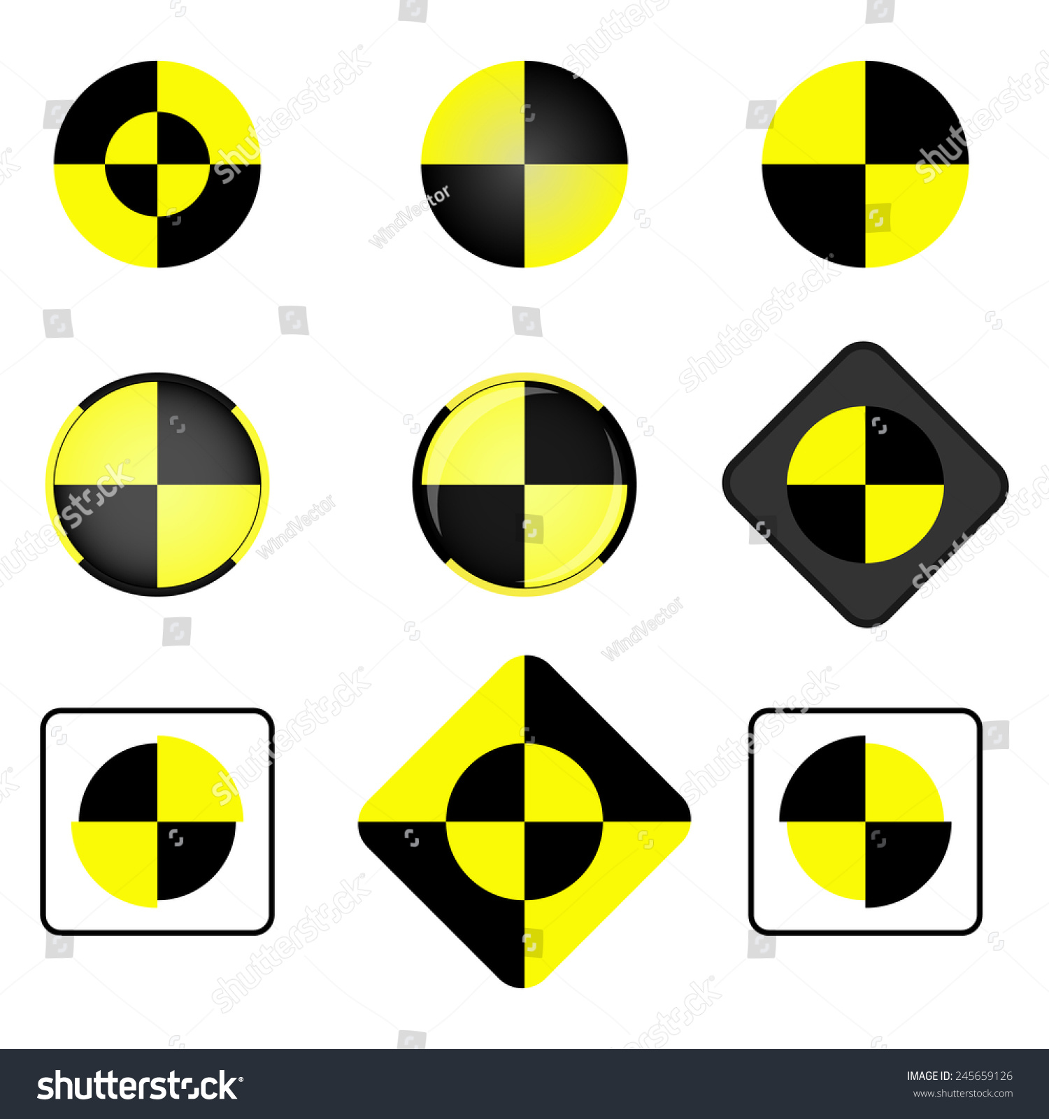Crash Test Vector Icon Set Crash Stock Vector Royalty Free