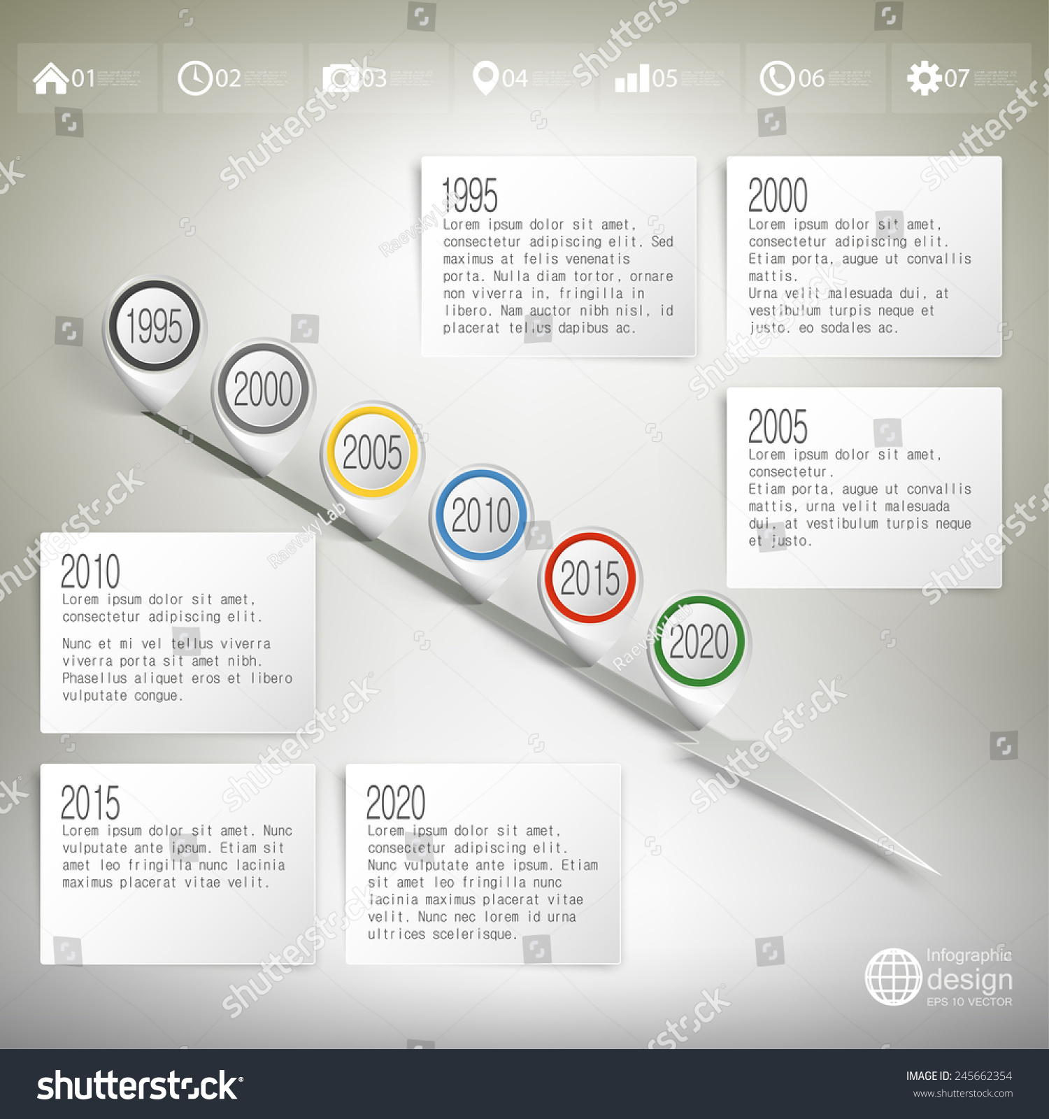 Timeline Pointer Marks Infographic Business Design Stock Vector - Timeline website template
