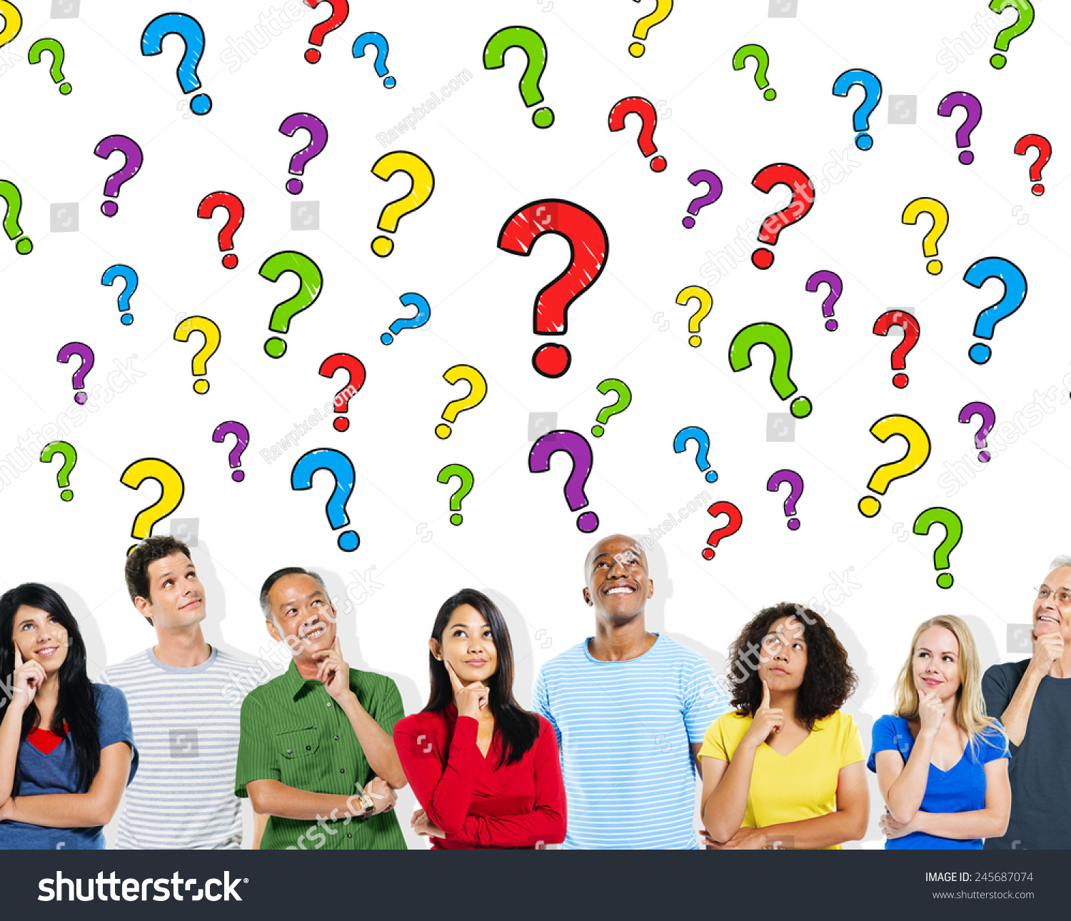 People Asking Questions To Each Other