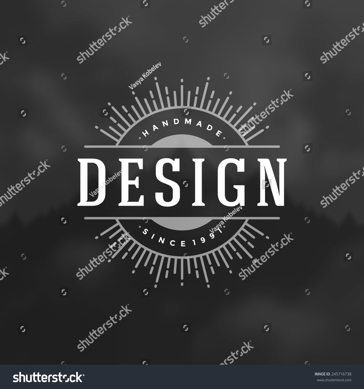 Retro Vintage Insignia Logotype Label Badge Stock Vector (Royalty ...