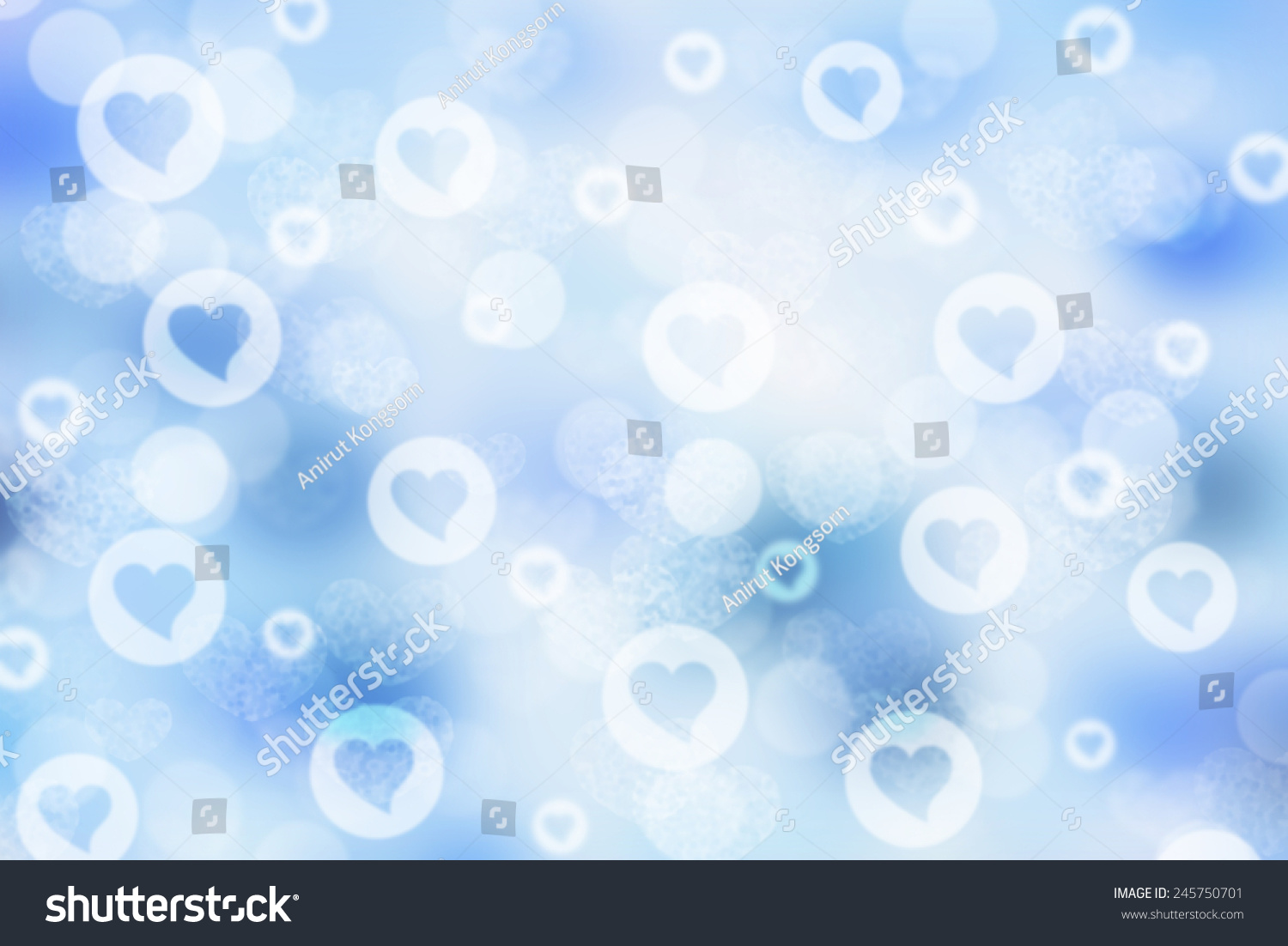 Blue Valentine Sparkle Bokeh Background Bokeh Backgrounds