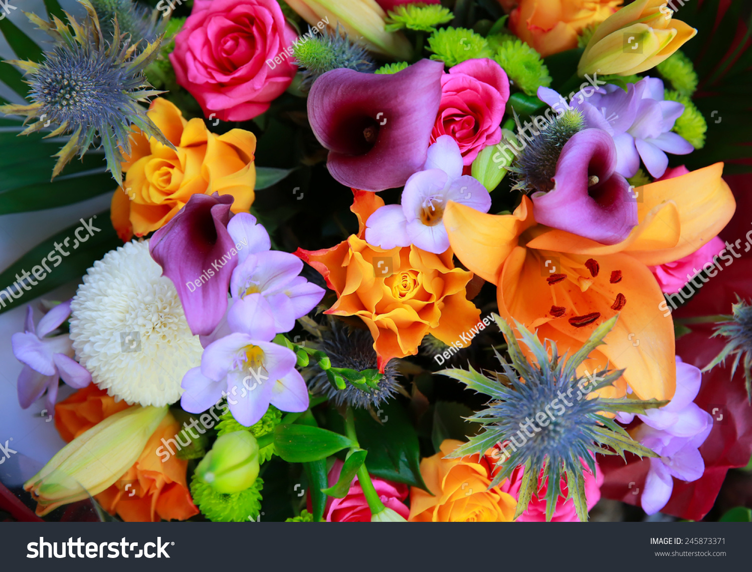 Bouquet beautiful flowers stock photo edit now 245873371 bouquet of beautiful flowers izmirmasajfo