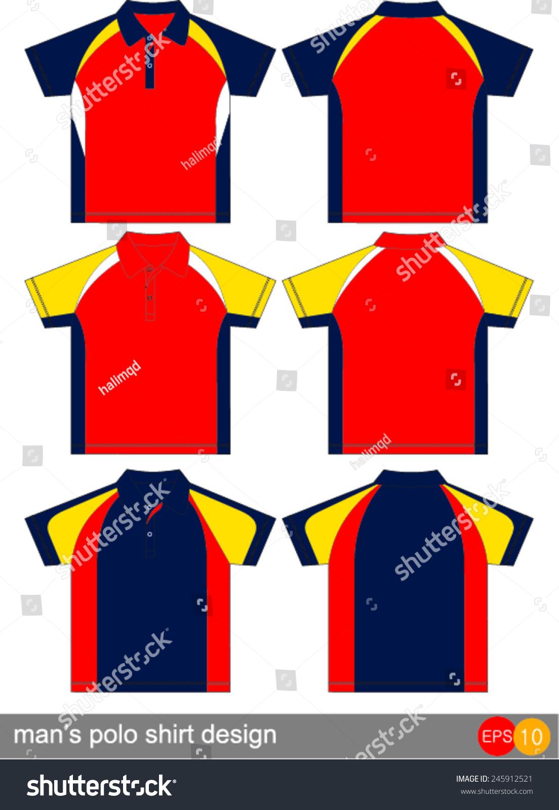 Polo shirt design vector - Polo Shirt Design Vector Template