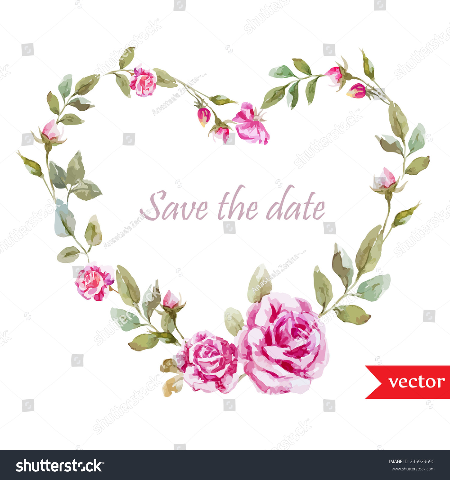 Royalty-free Wreath, rose, heart, frame, love,… #245929690 Stock ...
