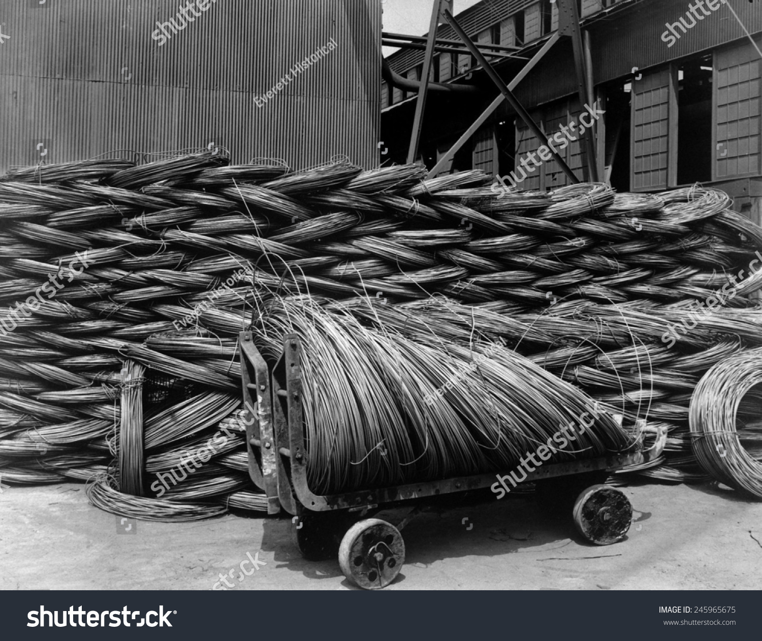 Wire Rods Raw Material Which Steel Stock Illustration 245965675 ...