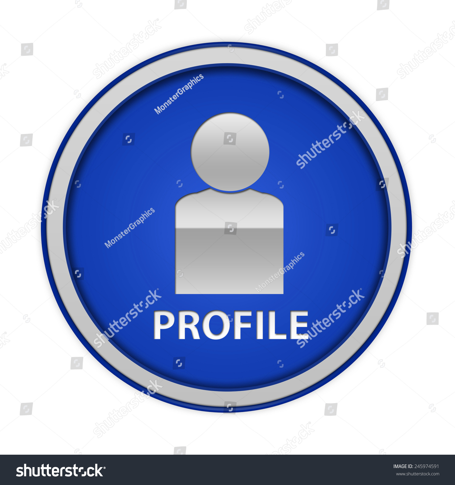 Profile Circular Icon On White Background Stock Illustration 245974591