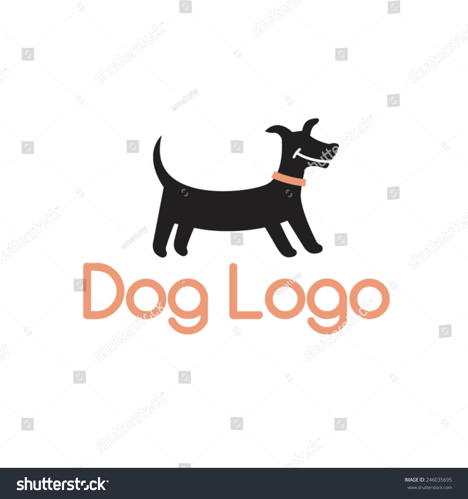 Smiling Dachshund Abstract Dog Logo Design Stock Vector ...
