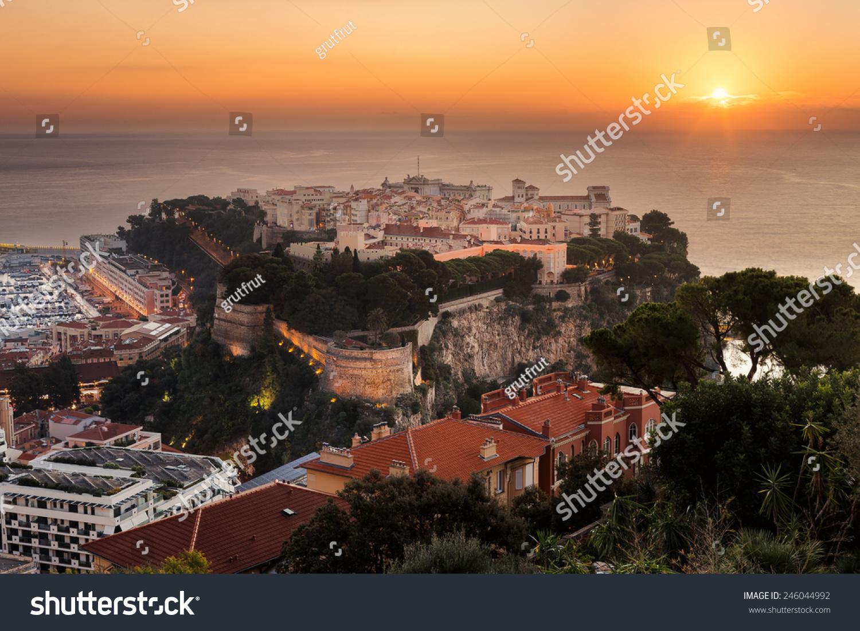 Rock Symbol City Principaute Monaco Monte Stock Photo Edit Now