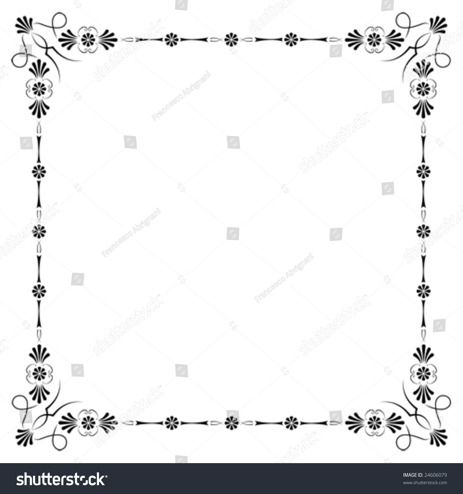 Corners borders page decorations very easy stock vector for Assignment front page decoration
