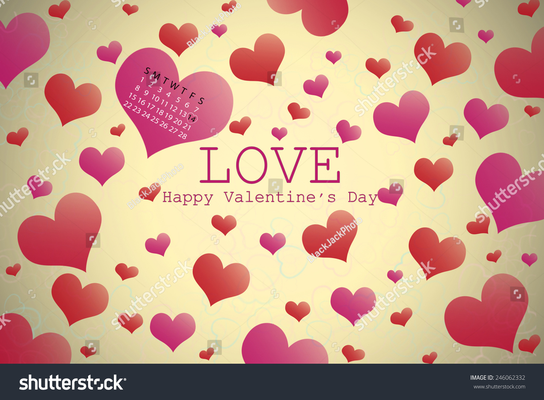 Valentine\'s day background with hearts   EZ Canvas