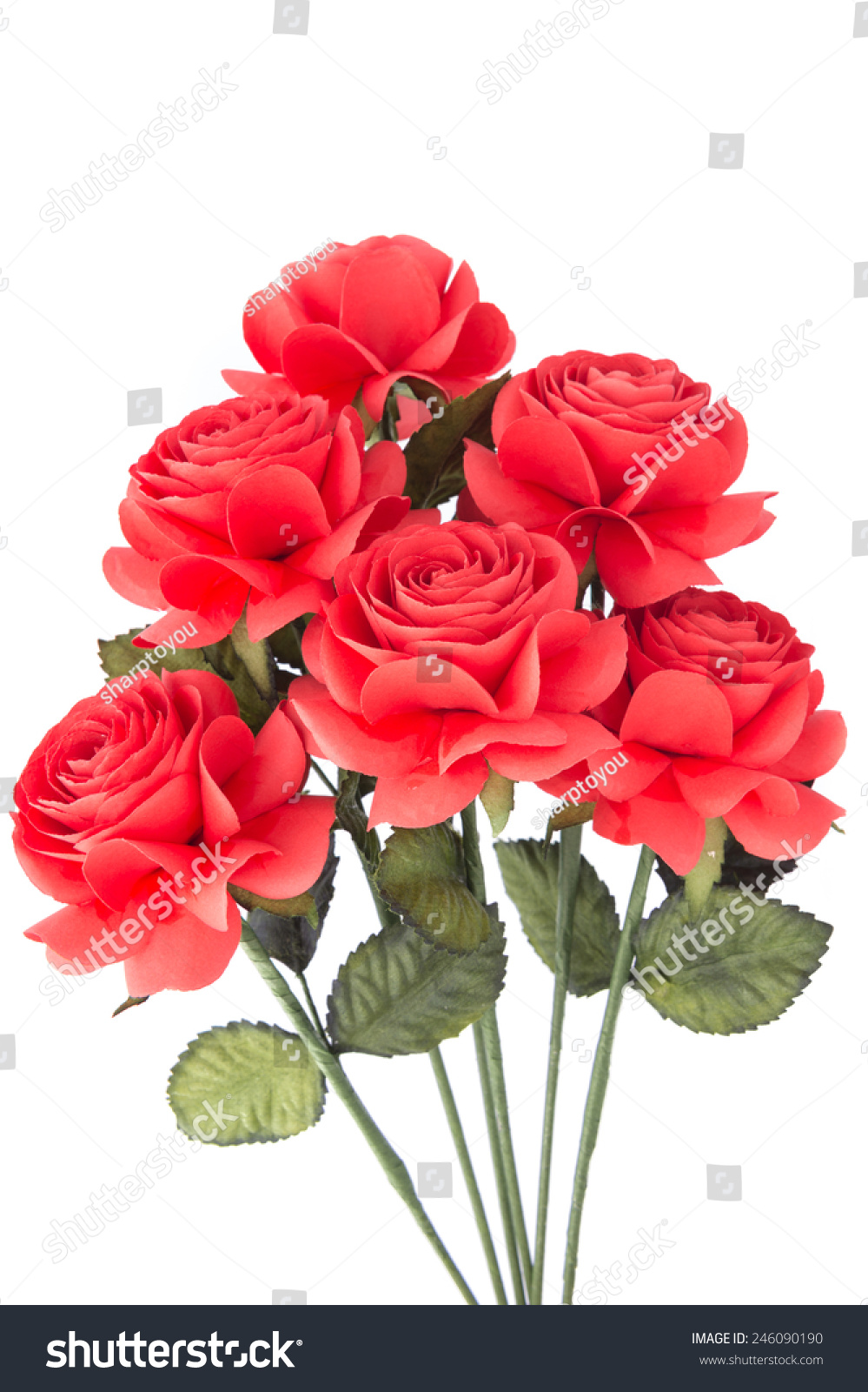 Artificial Red Rose Made By Paper Stock Photo Edit Now 246090190
