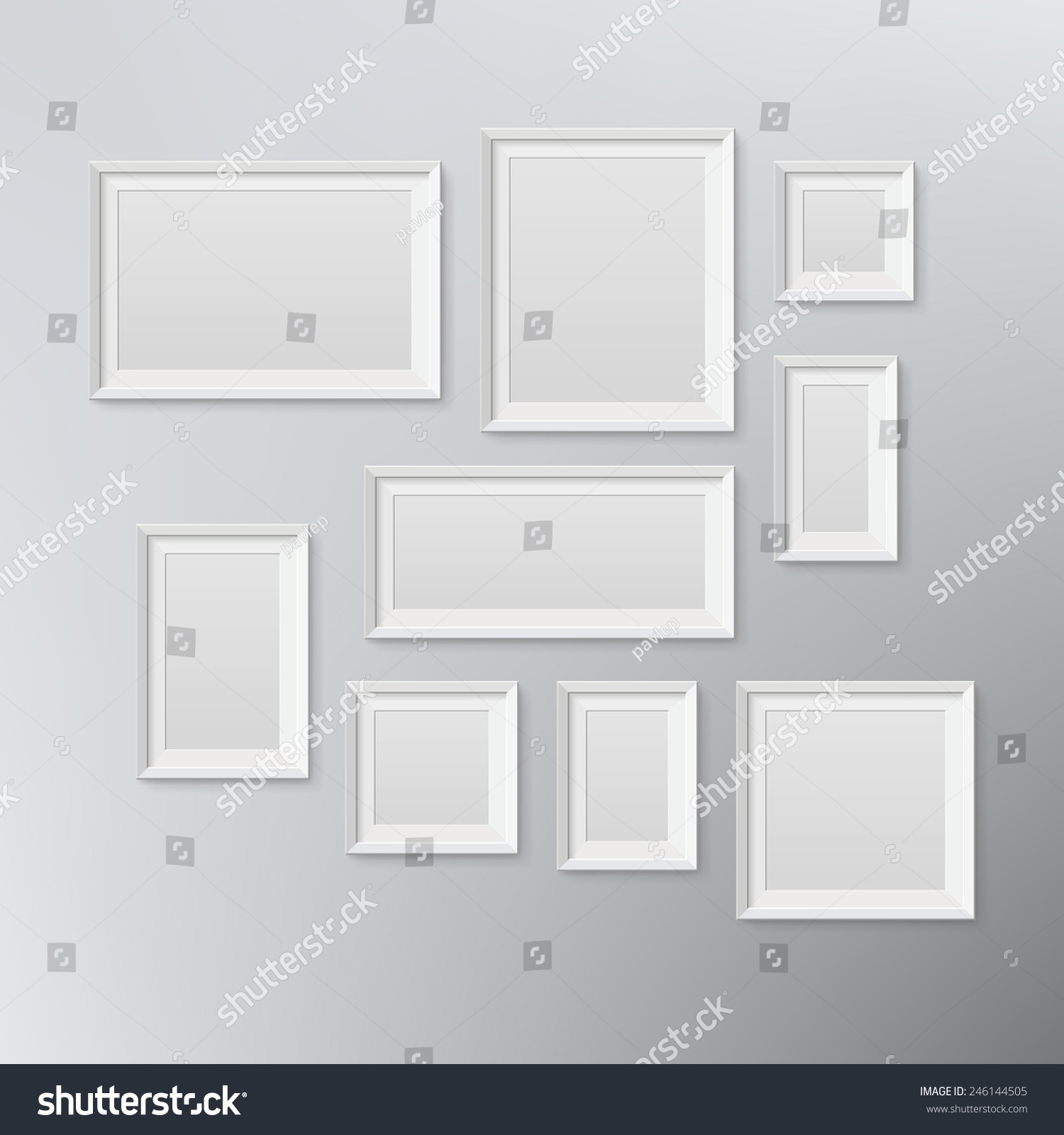 Empty frame from a picture, document, diploma or commendation on a ...