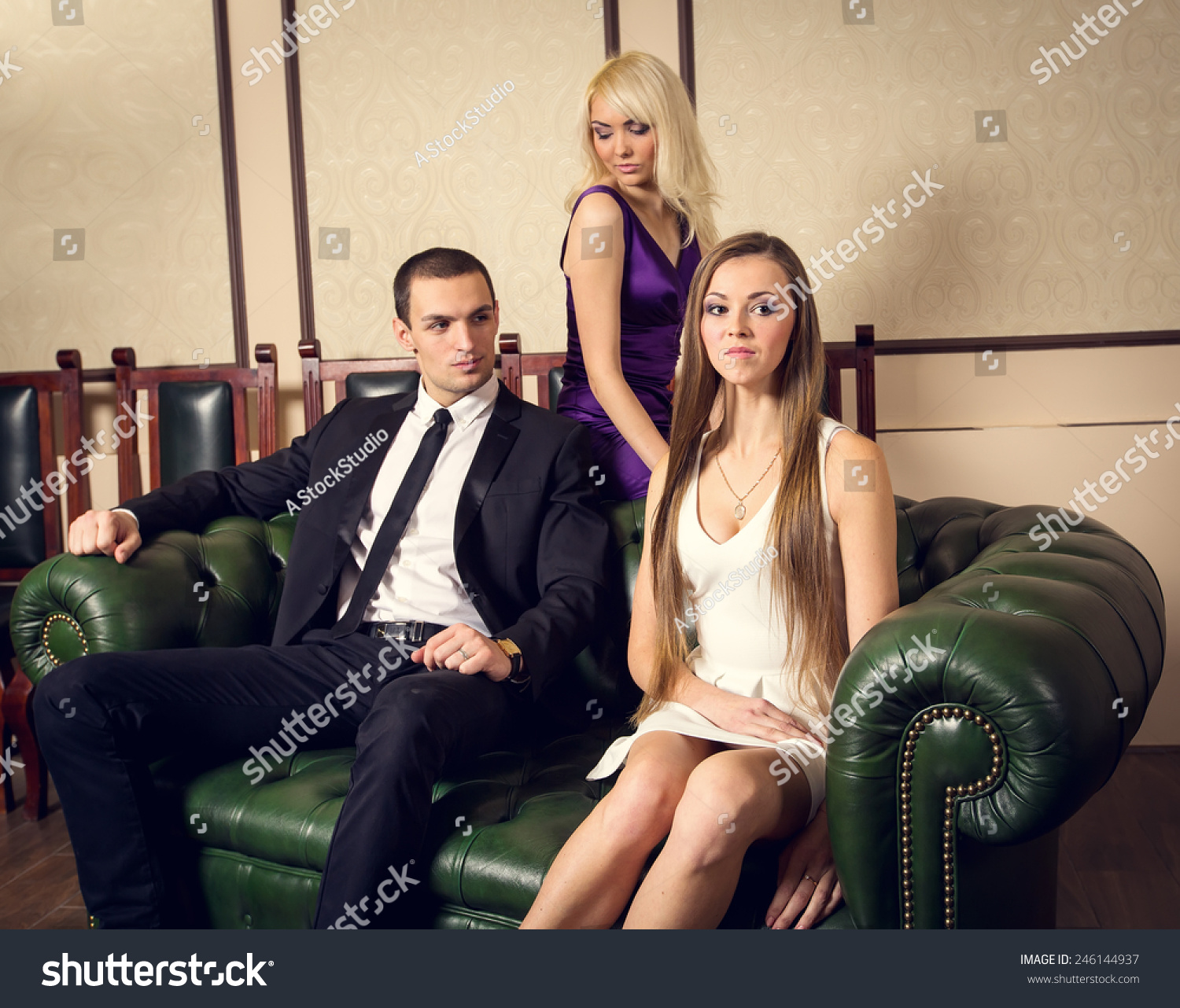 Man dating two women