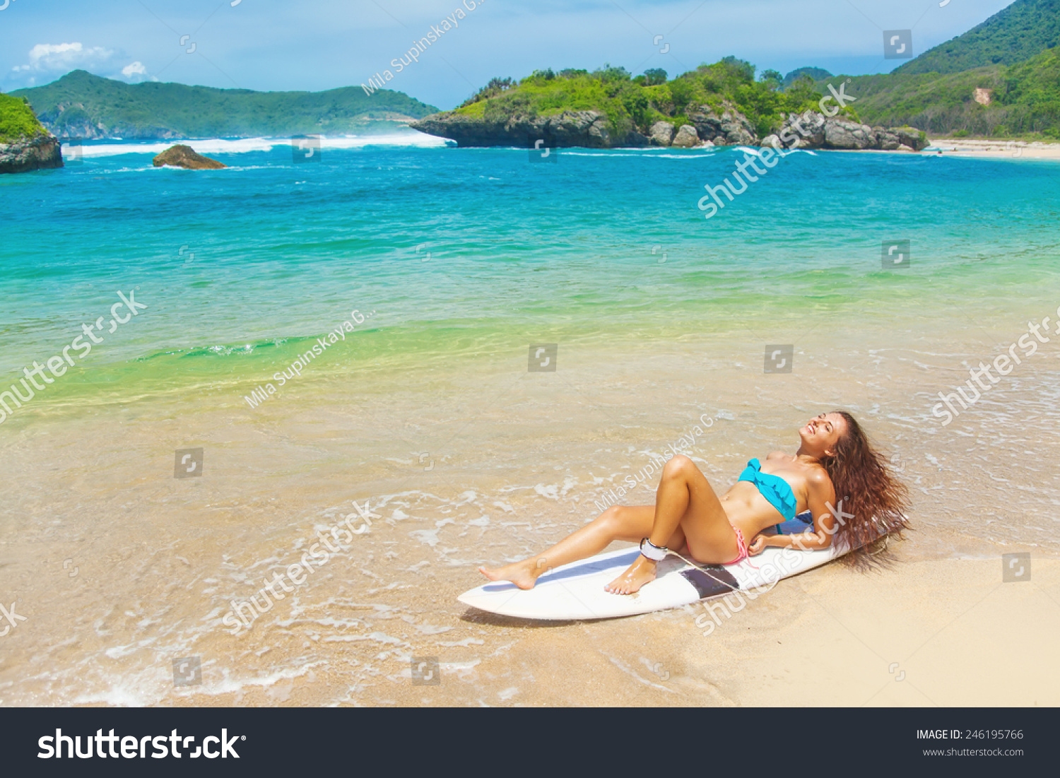 Woman Swimsuit Resting Over Surf Boar Stock Photo Edit Now 246195766 Surfboards and surfboard gear available for sale. https www shutterstock com image photo woman swimsuit resting over surf boar 246195766