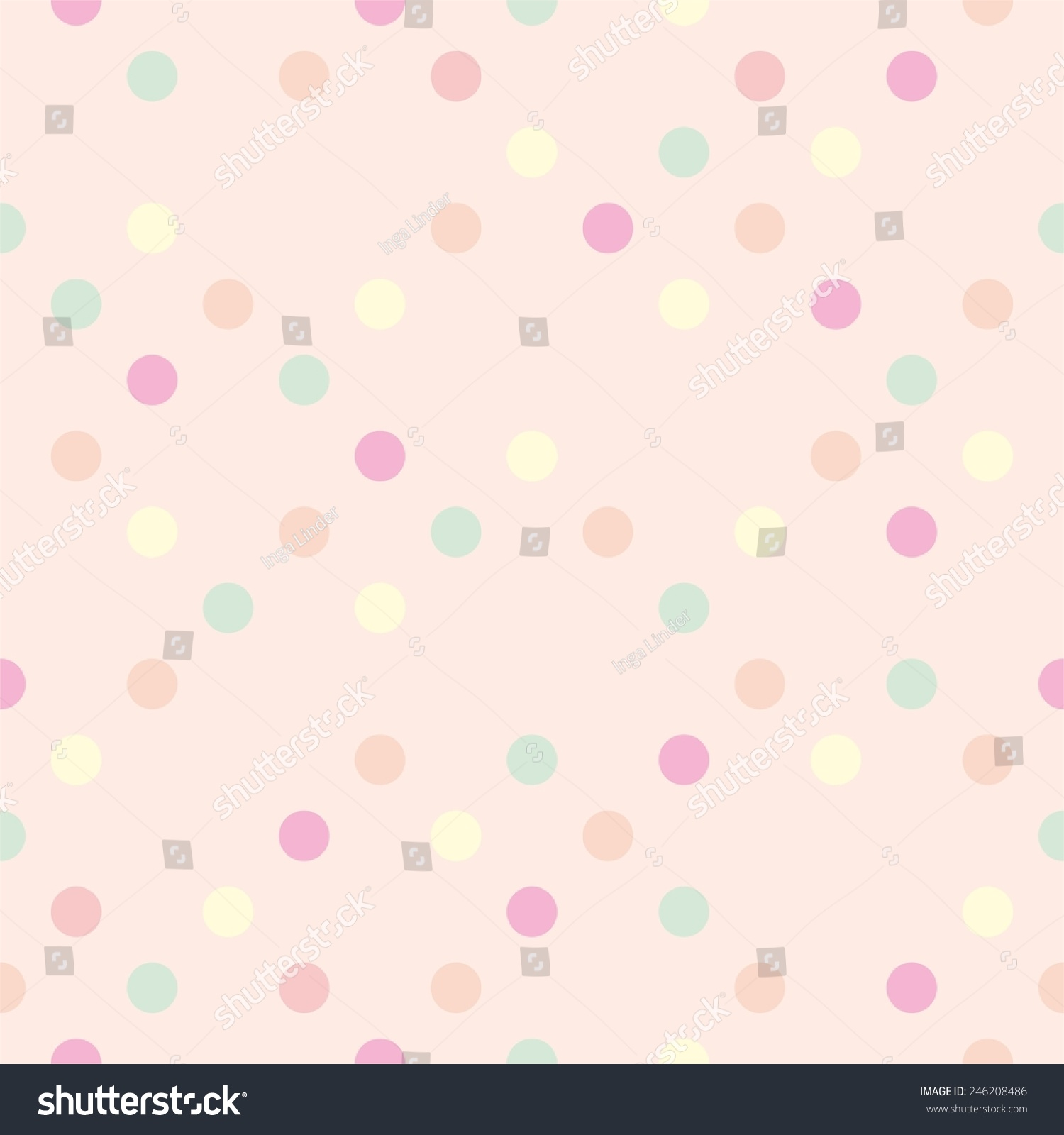 Pics photos pink polka dot s wallpaper - Pastel Vector Polka Dots On Pink Background Seamless Pattern Or Tile Decoration Wallpaper