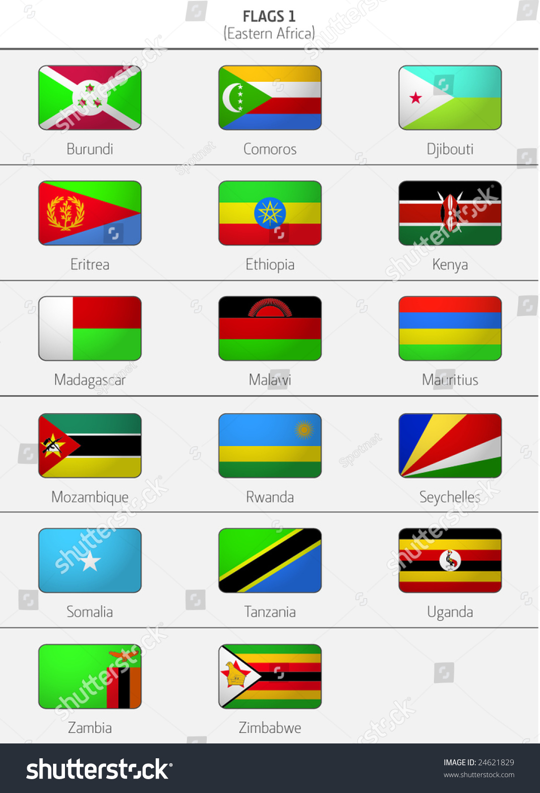Flags eastern africa countries 2 stock vector 24621829 shutterstock flags of eastern africa countries 2 biocorpaavc