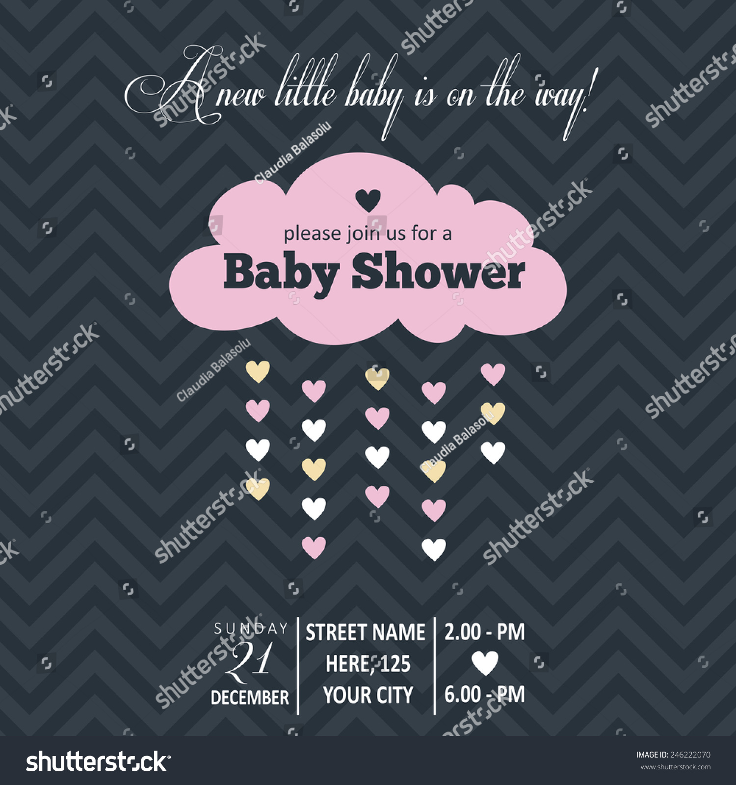 Baby girl invitation baby shower vector stock vector 246222070 baby girl invitation for baby shower vector format stopboris Image collections