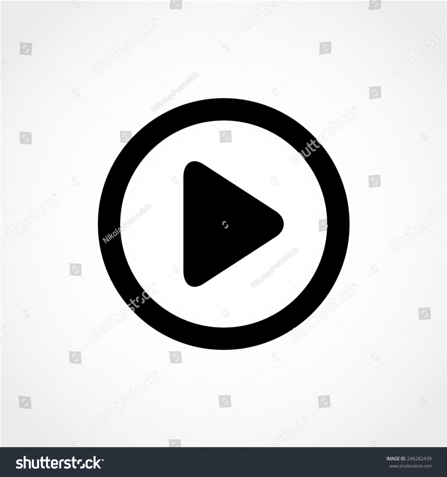 Play Icon Isolated On White Background Stock Vector 2018 246282439