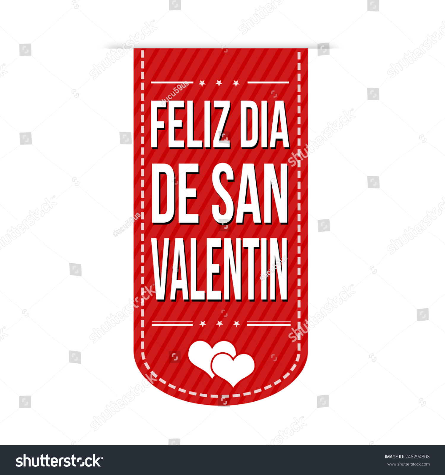 Happy Valentineu0027s Day In Spanish Language ( Feliz Dia De San Valentin)  Banner Design Over