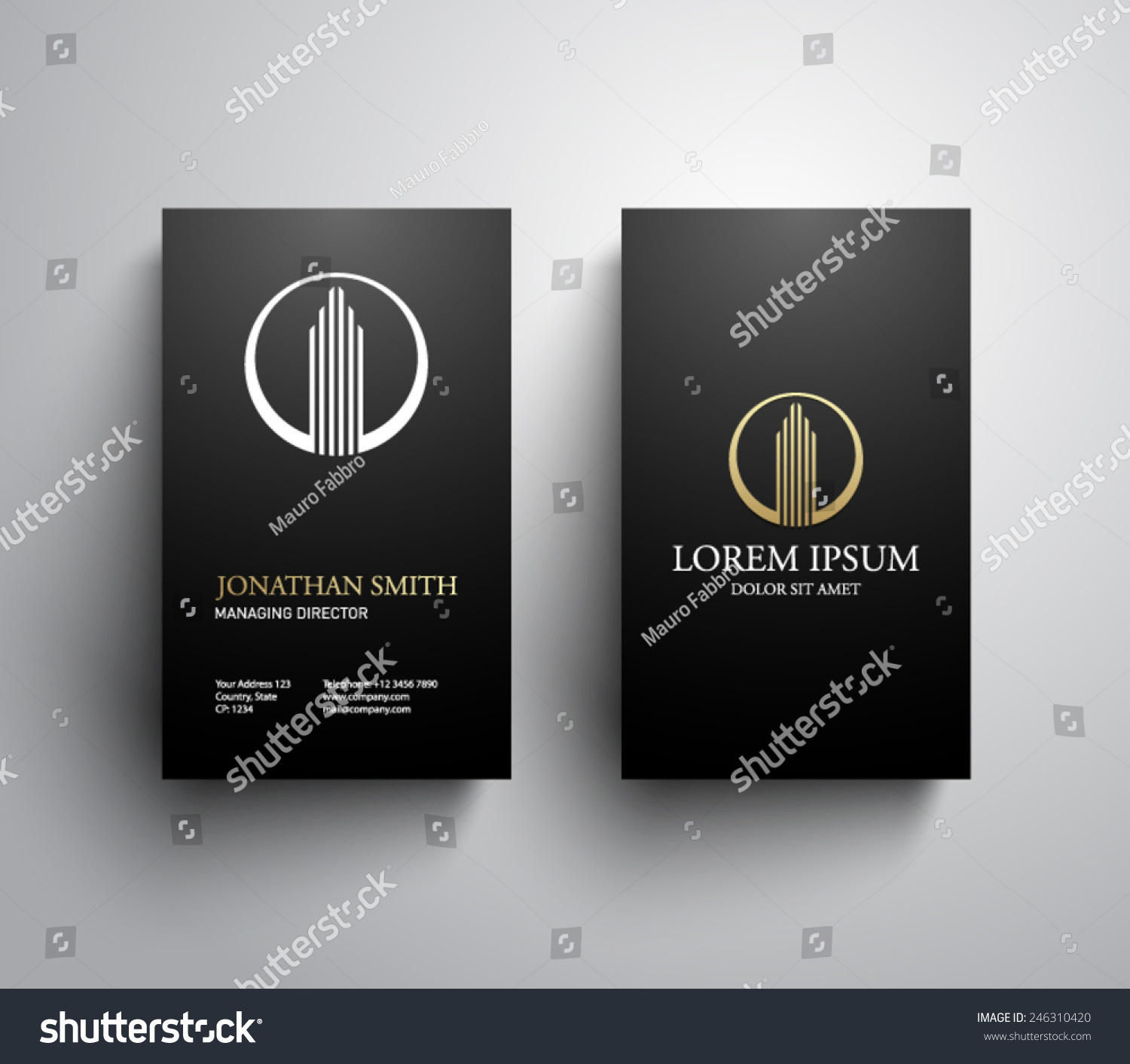 Business Card Template Real Estate Apartment Stock Vector 246310420
