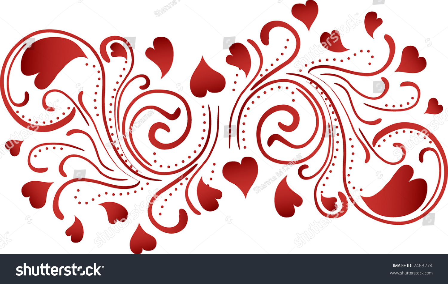 Heartbeat Pattern Heartbeat Vector Pattern Vector: Heart Floral Swirl Pattern Background Stock Vector