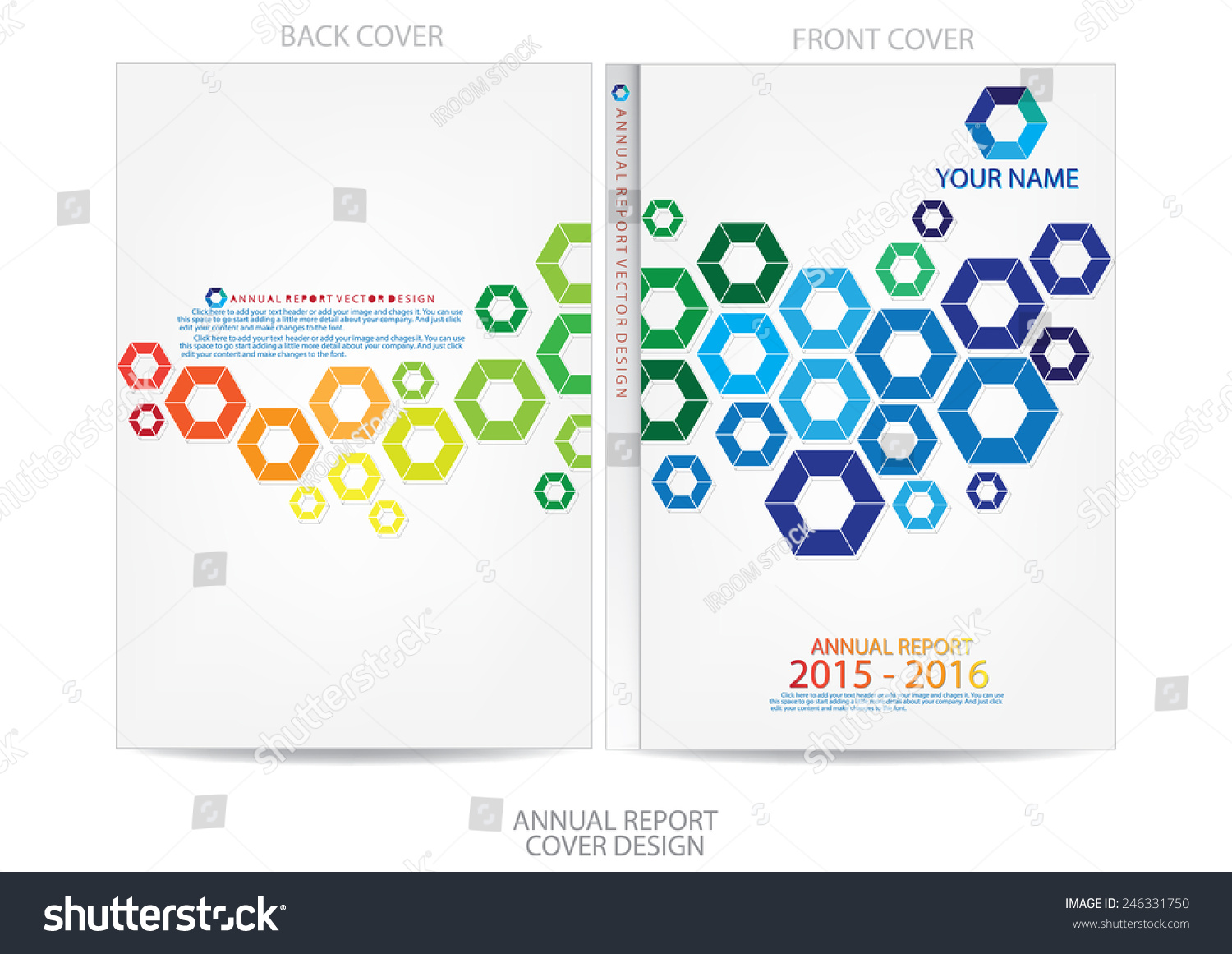 Royalty-free Annual report cover design #246331750 Stock Photo ...