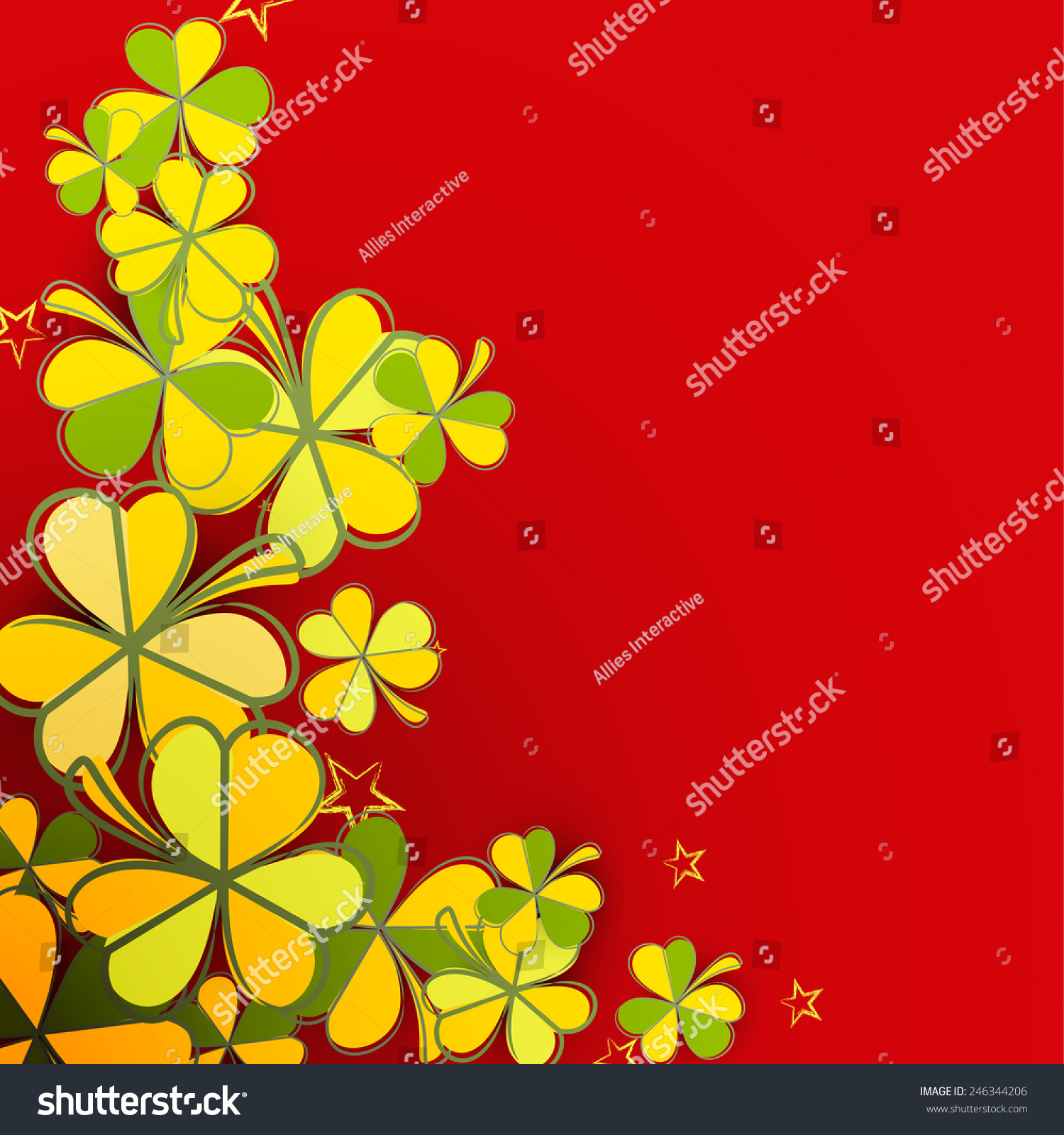 Vector seamless abstract 70\'s flowers pattern / invitation | EZ Canvas