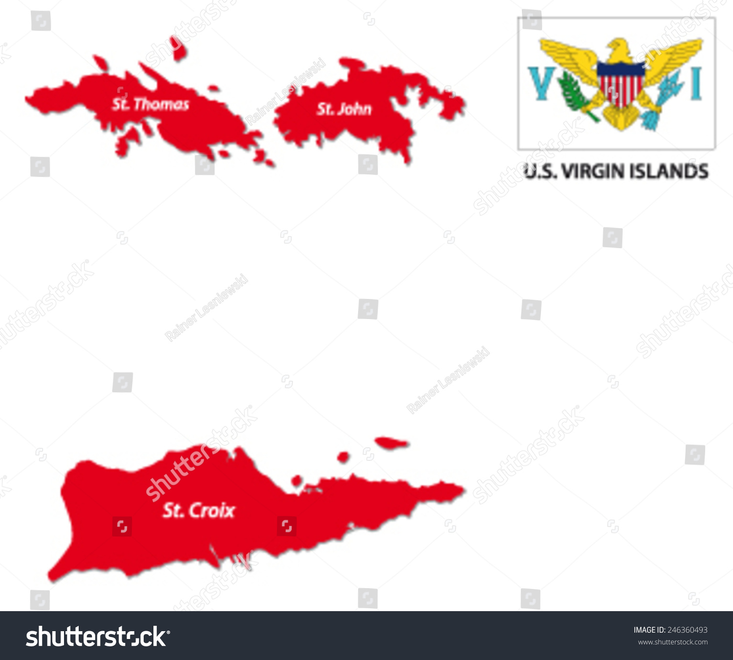 Us Virgin Islands Map Flag Stock Vector Shutterstock Map Us Virgin Islands