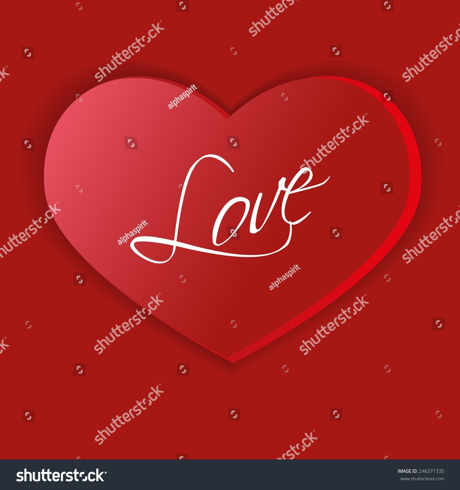 Big heart symbol love stock vector 246371335 shutterstock big heart as a symbol of love buycottarizona Image collections