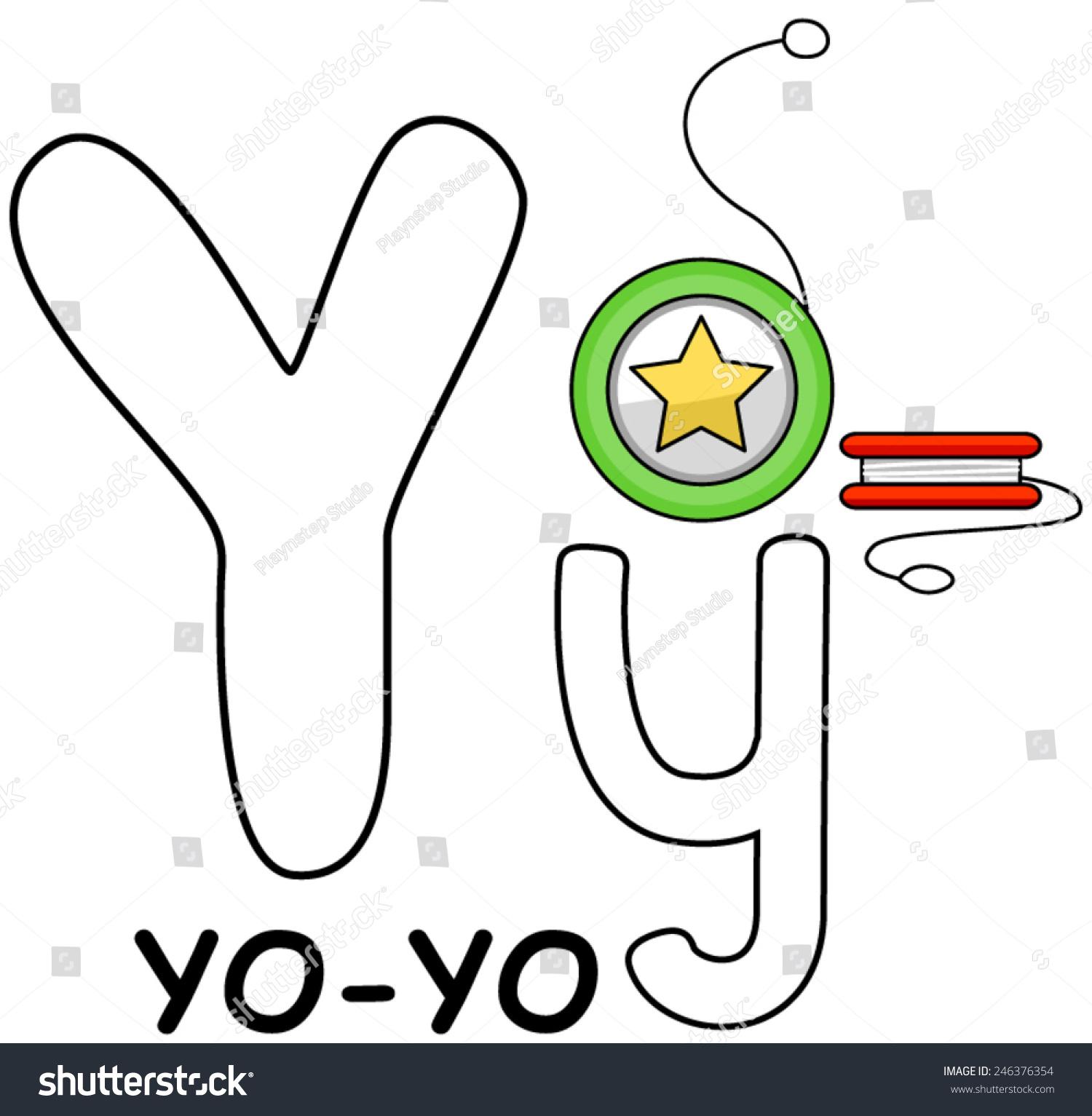 Letter y yoyo stock vector 246376354 shutterstock letter y yo yo buycottarizona Images