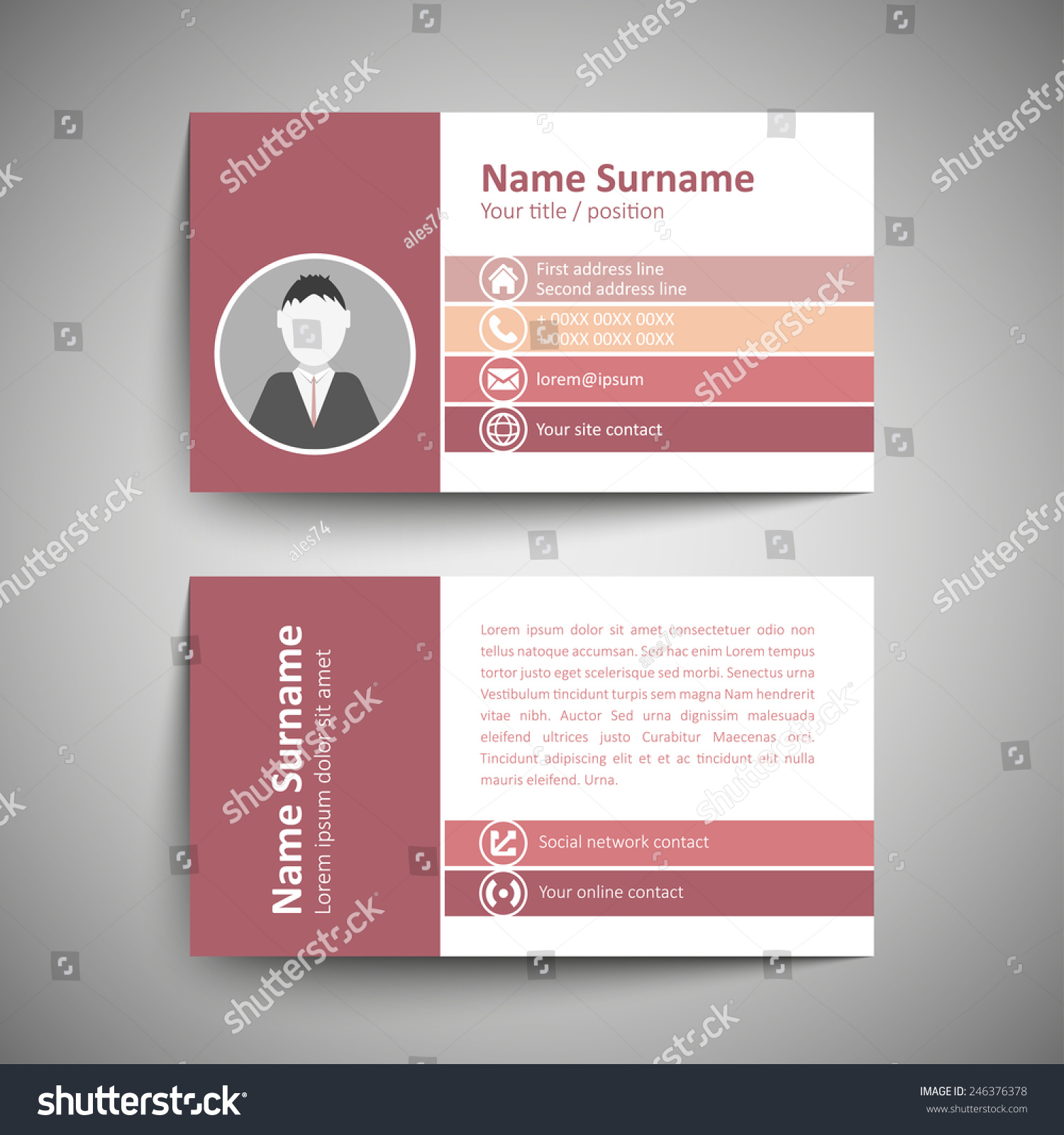 Great Format Of Business Card Contemporary - Business Card Ideas ...
