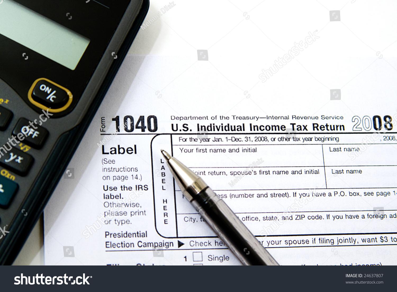 Preparing Taxes Form 1040 For 2008 Ez Canvas