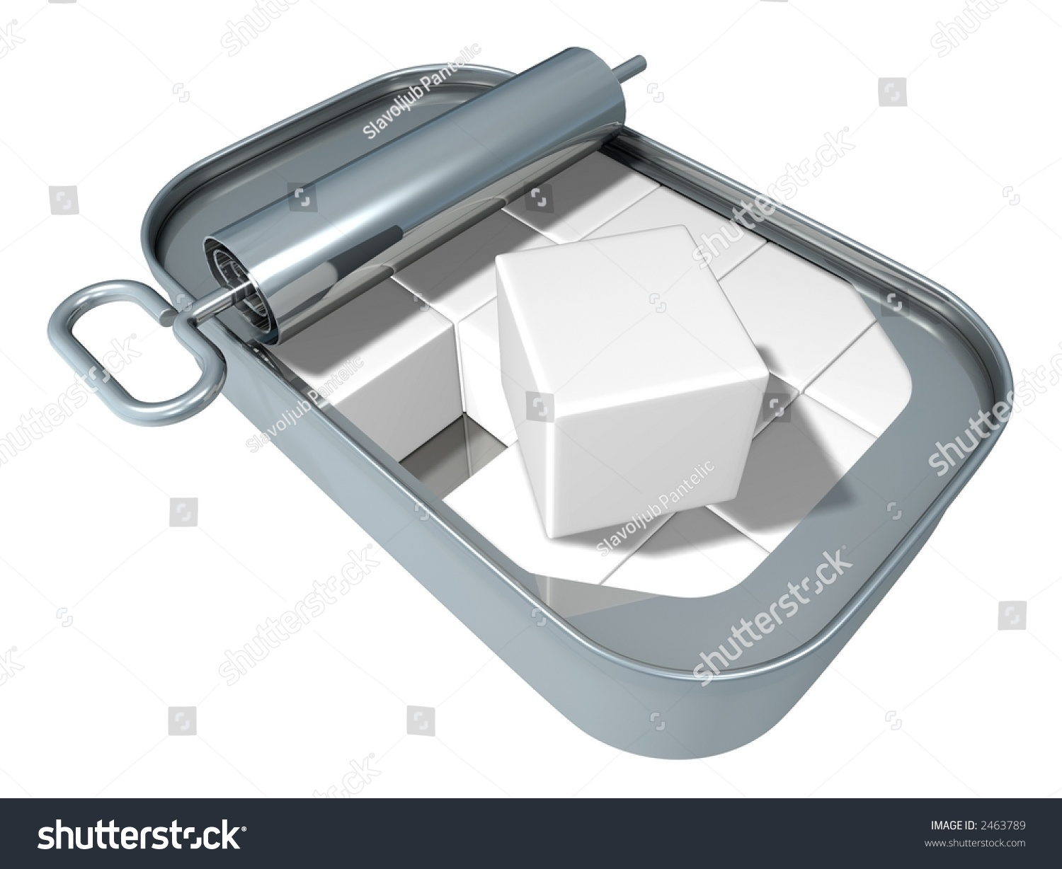 3d rendered boxes in the sardine can stock photo 2463789 for Empty sardine cans