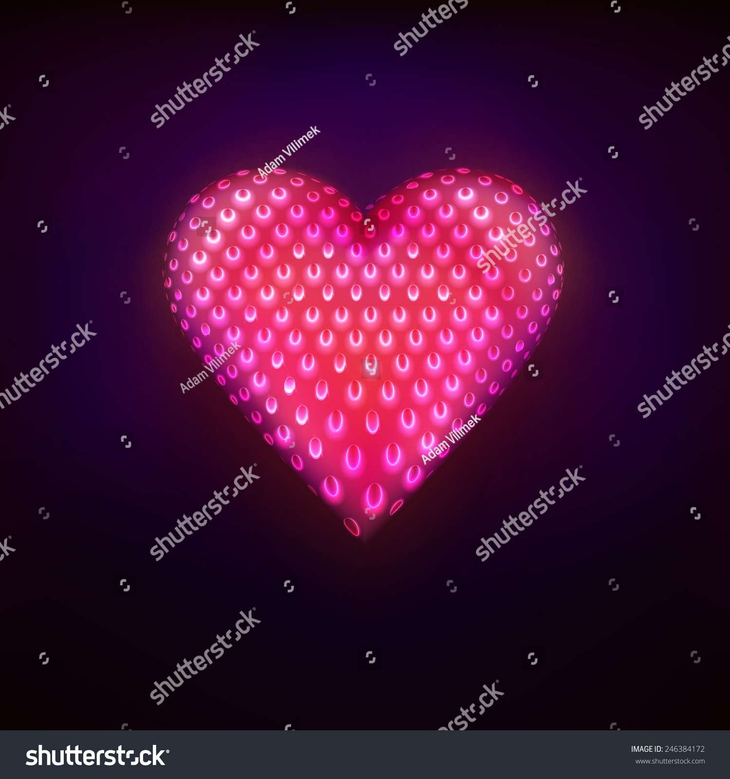 Red dotted fruit design love heart stock vector 246384172 red dotted fruit design as love and heart symbol graphic isolated vector illustration on black background biocorpaavc
