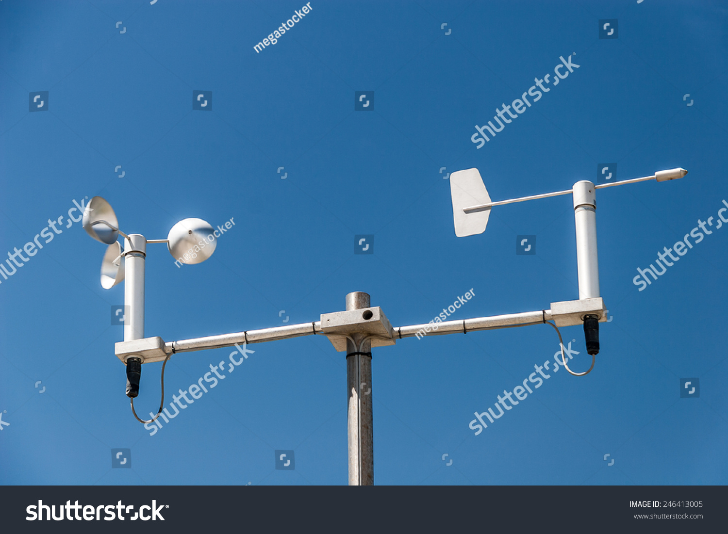 mini weather station against the blue sky stock photo. Black Bedroom Furniture Sets. Home Design Ideas