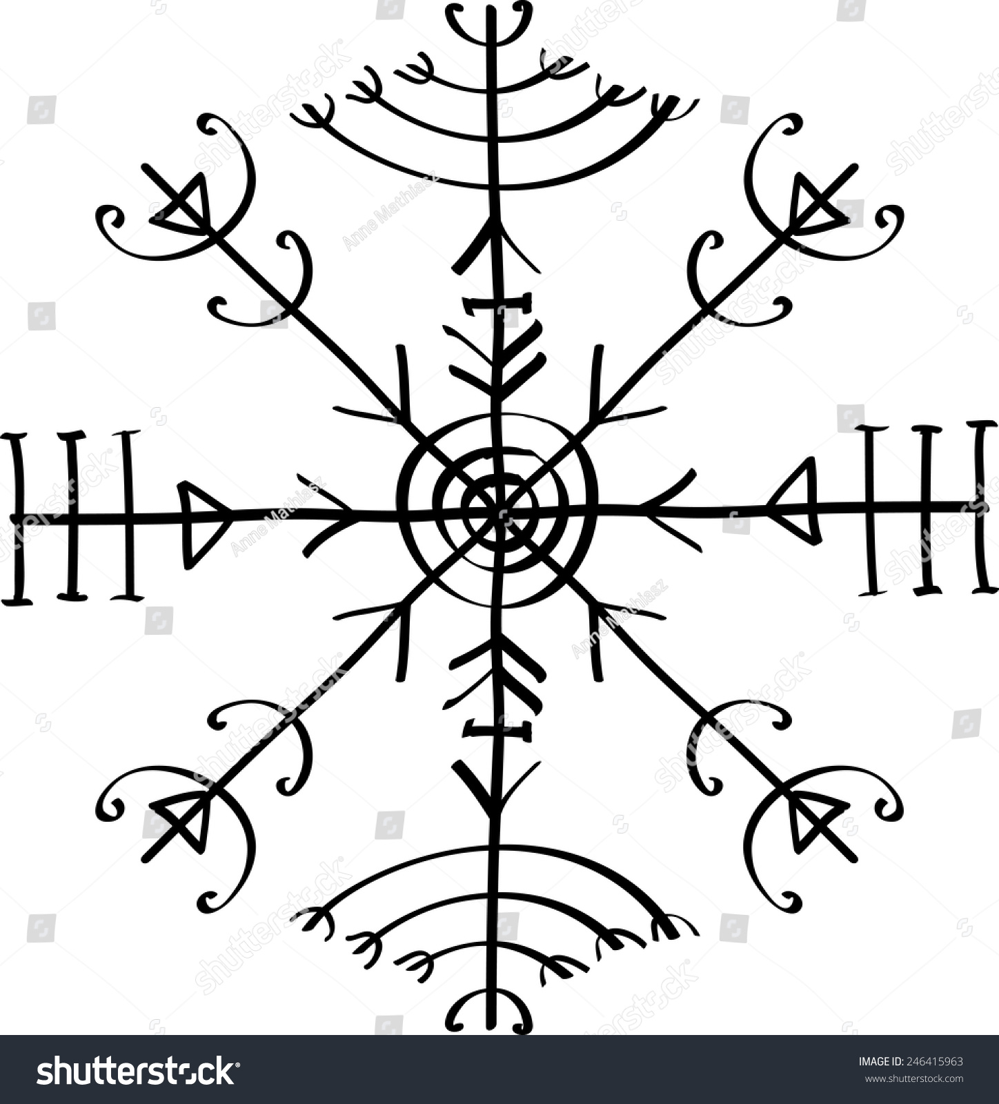 Veldismagn Icelandic Protection Symbol Stock Vector Royalty Free