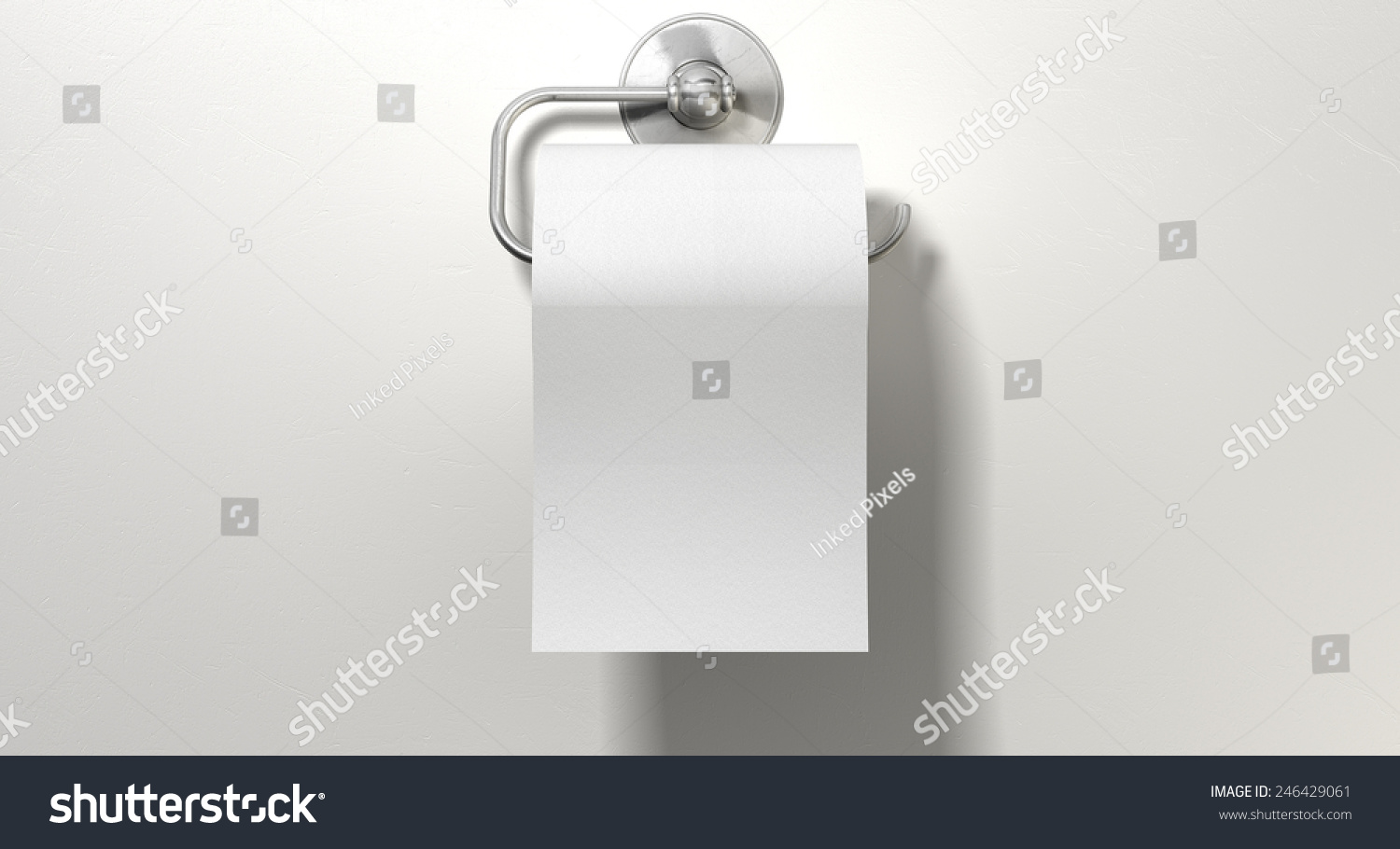Roll White Toilet Paper Hanging On Stock Illustration 246429061