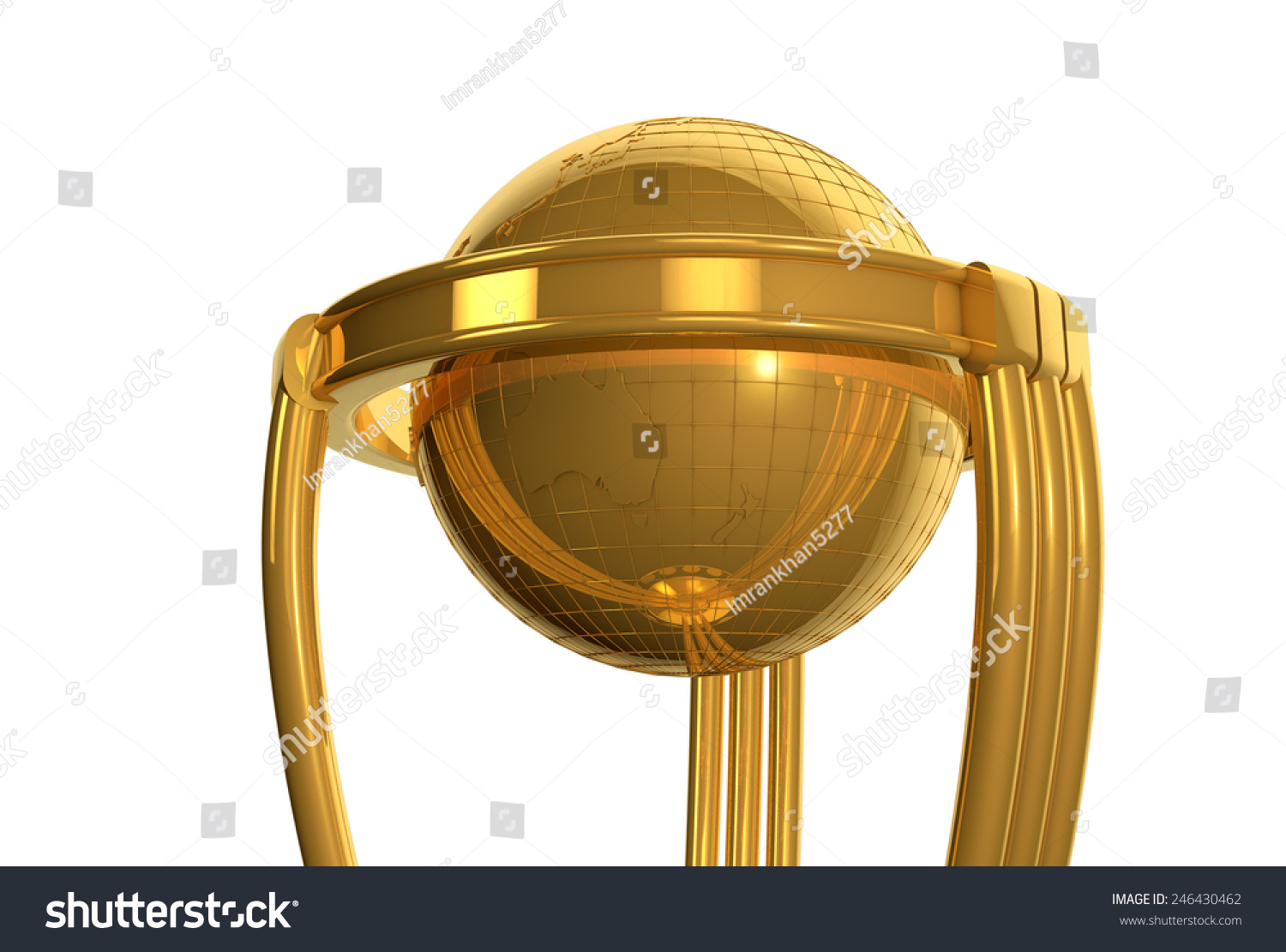 Cricket World Cup Trophy Stock Illustration 246430462