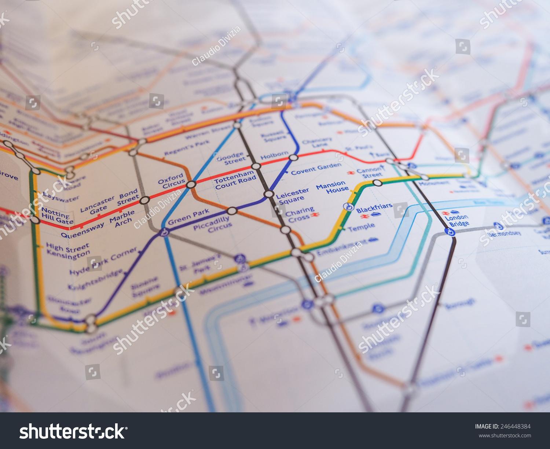 Map Of Underground In London LONDON UK