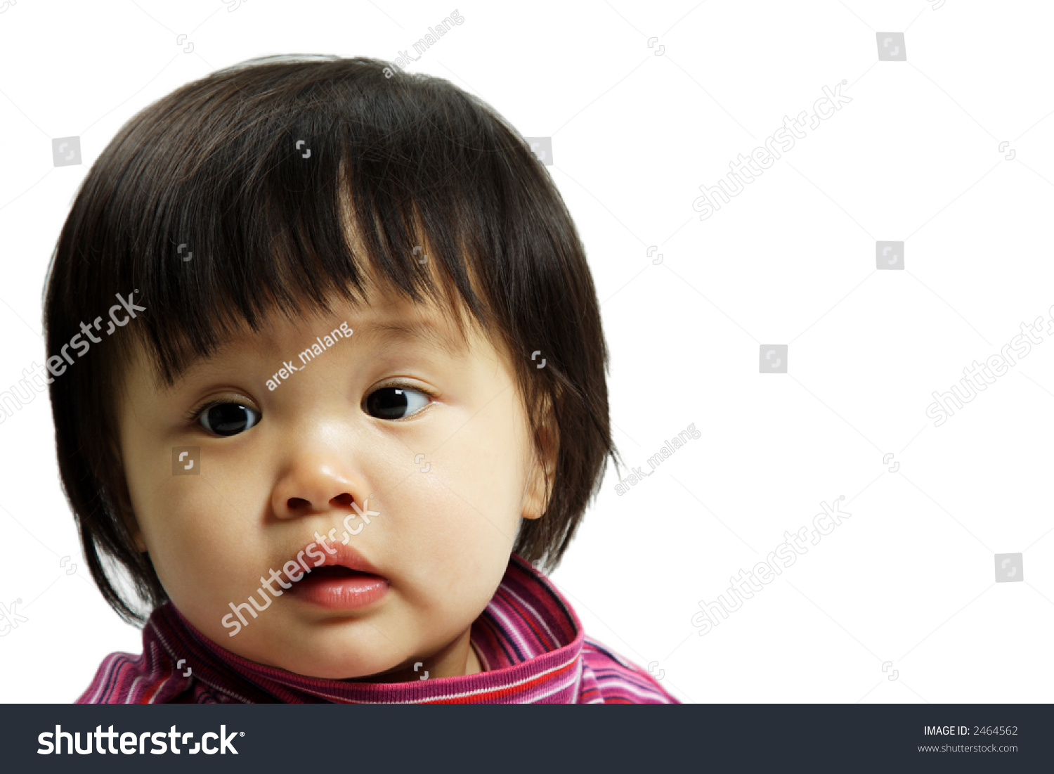 portrait cute baby girl posing isolated stock photo (download now