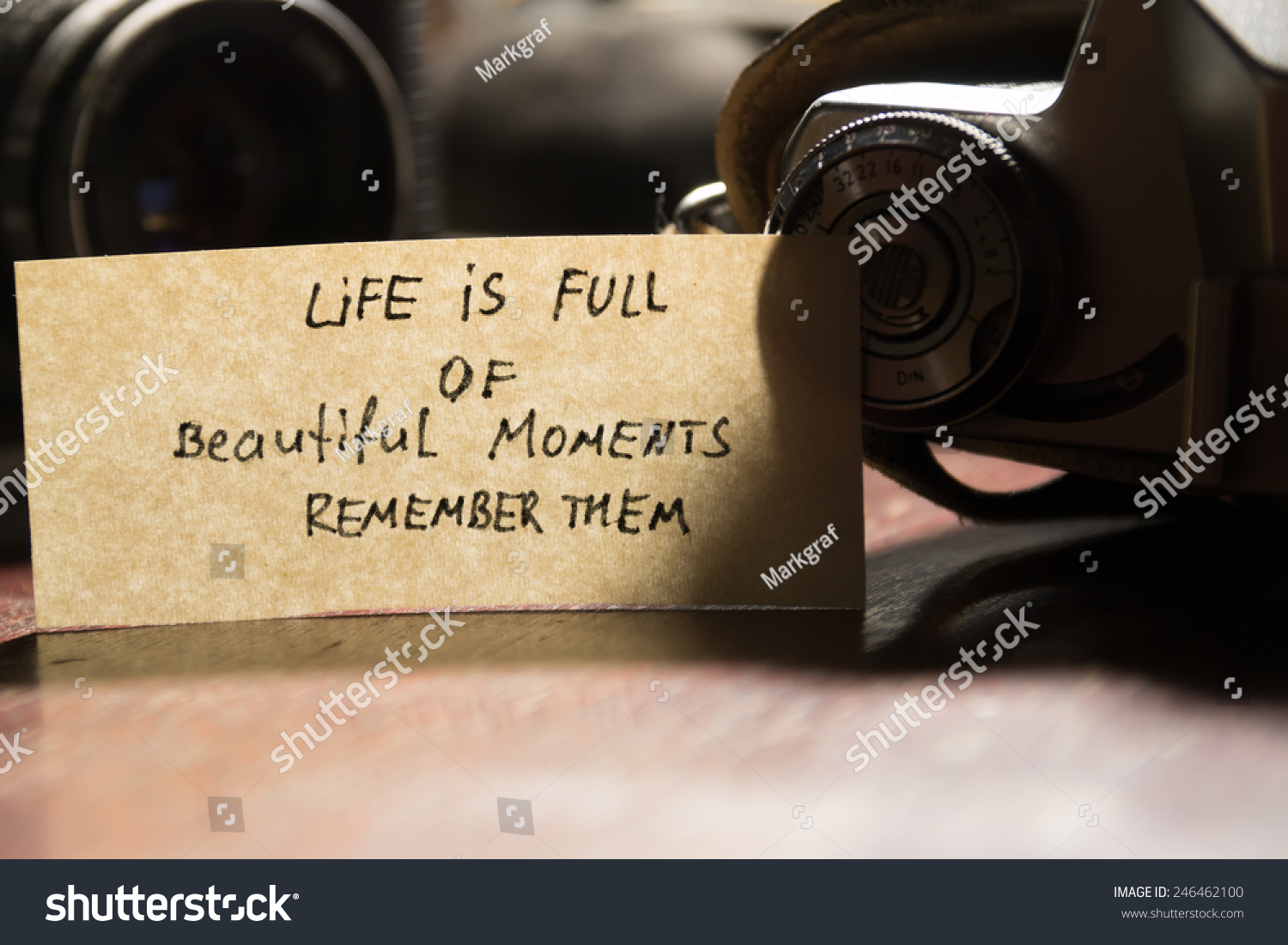 Photo Camera Quote Life Full Beautiful Stock Photo Edit Now
