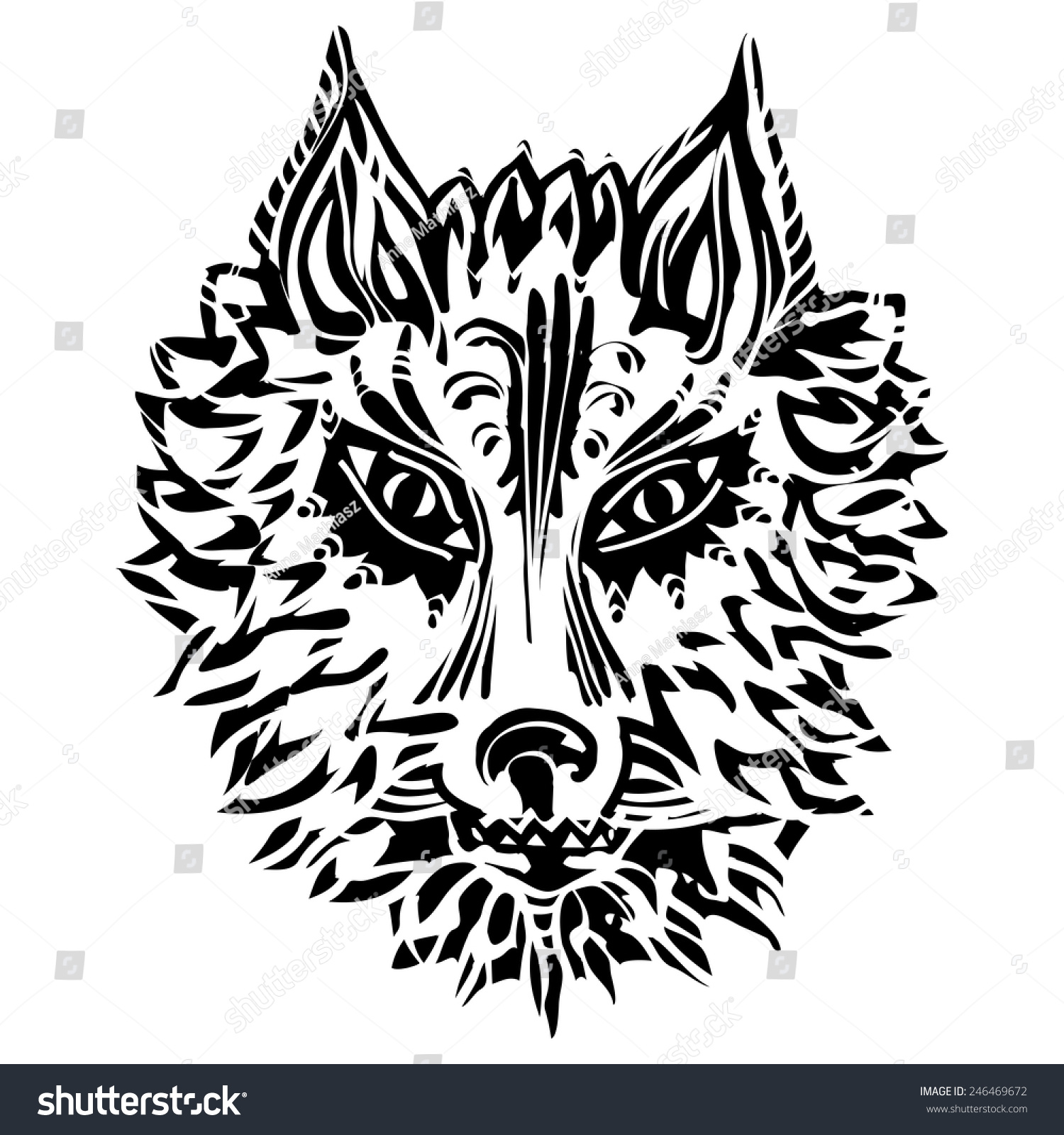 Royalty Free Wolf Symbol Of Loyalty And Strength 246469672 Stock