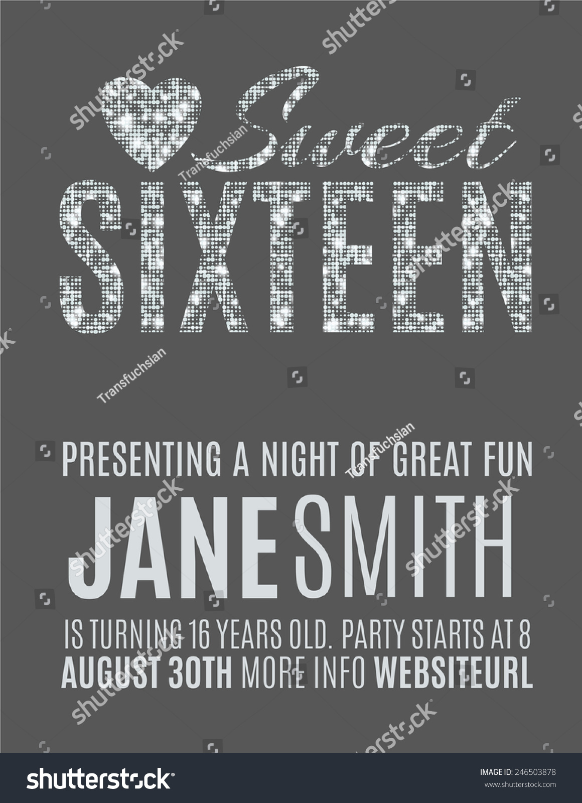 sweet sixteen glitter party invitation flyer stock vector sweet sixteen glitter party invitation flyer template design