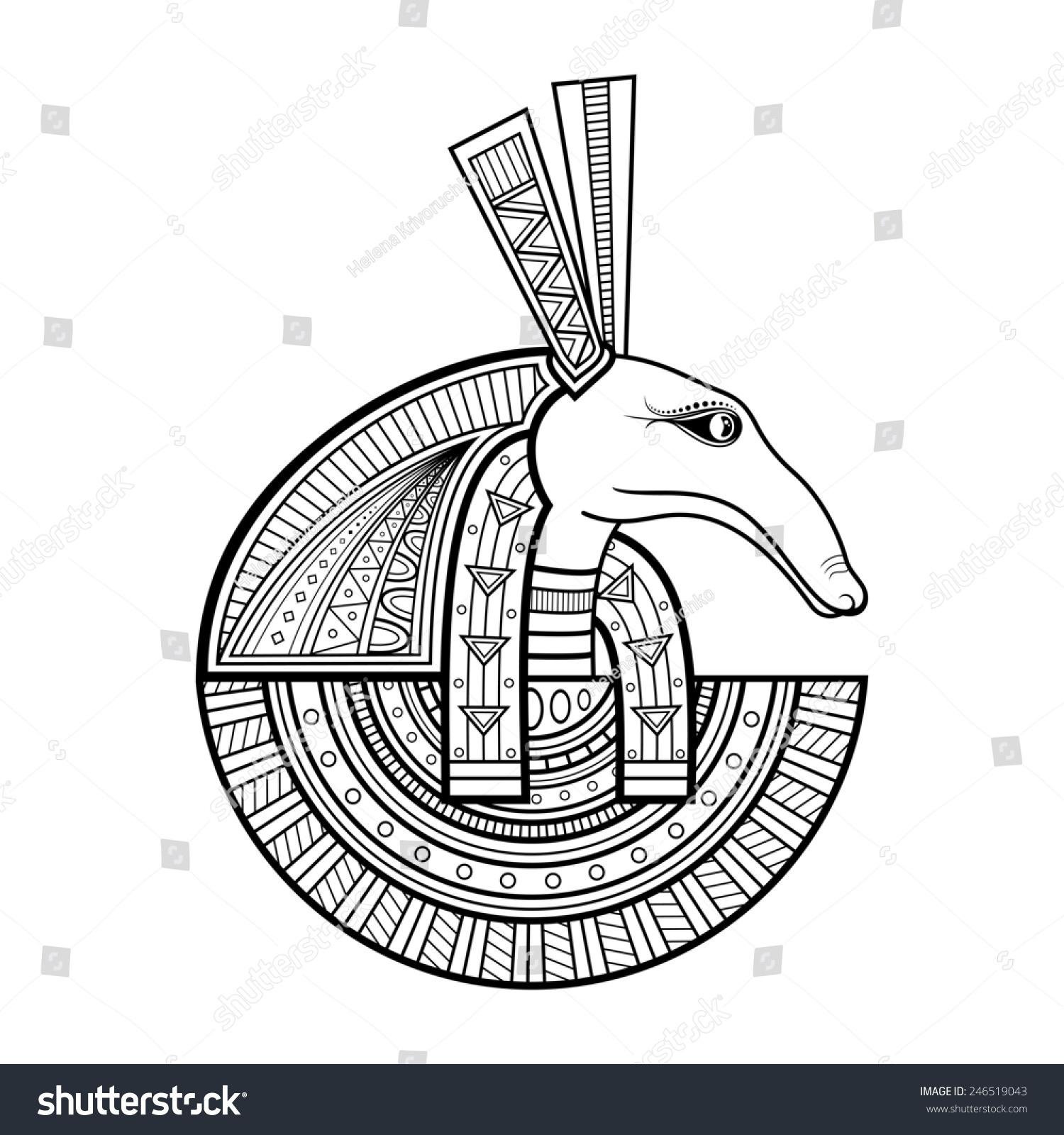 God Ancient Egypt Seth Stock Illustration 246519043 Shutterstock