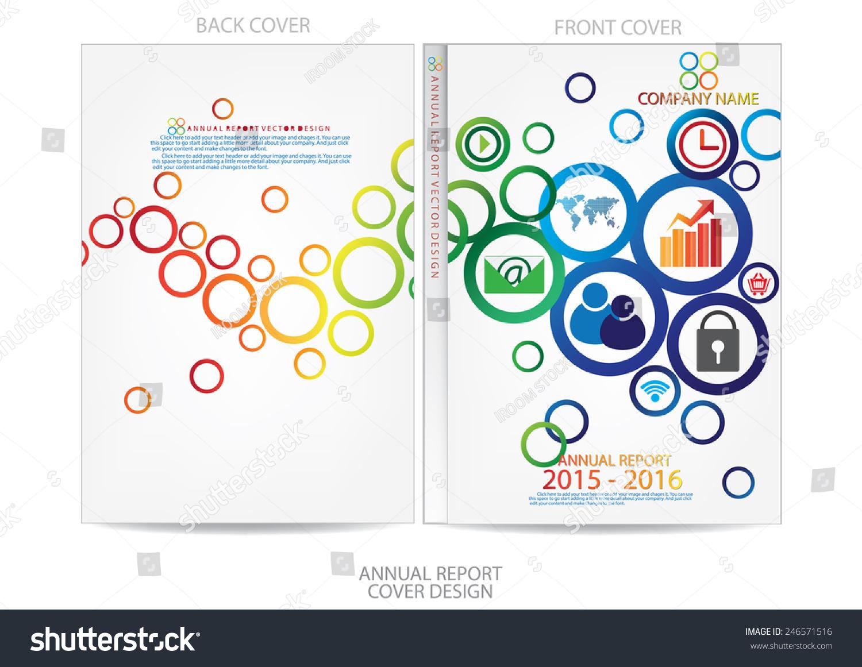 annual report cover design stock vector shutterstock annual report cover design