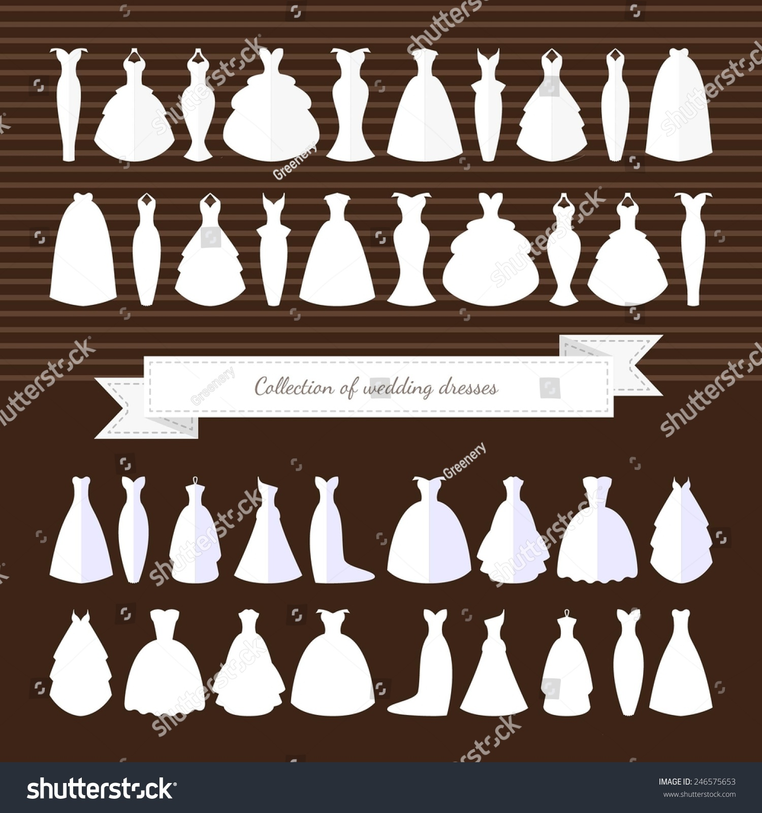 Different Styles Wedding Dresses Made In Modern Flat