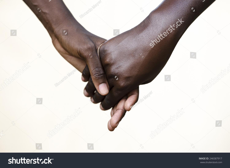 Friendship Symbol: Black People Holding Hands Together ...