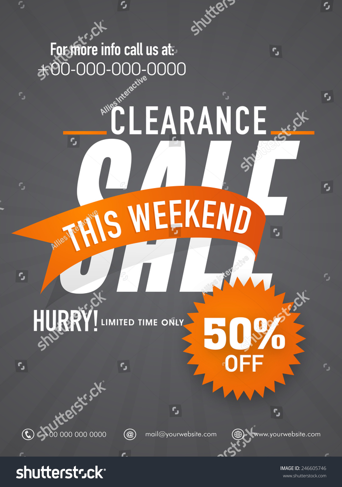 big clearance flyer banner template stock vector  big clearance flyer banner or template