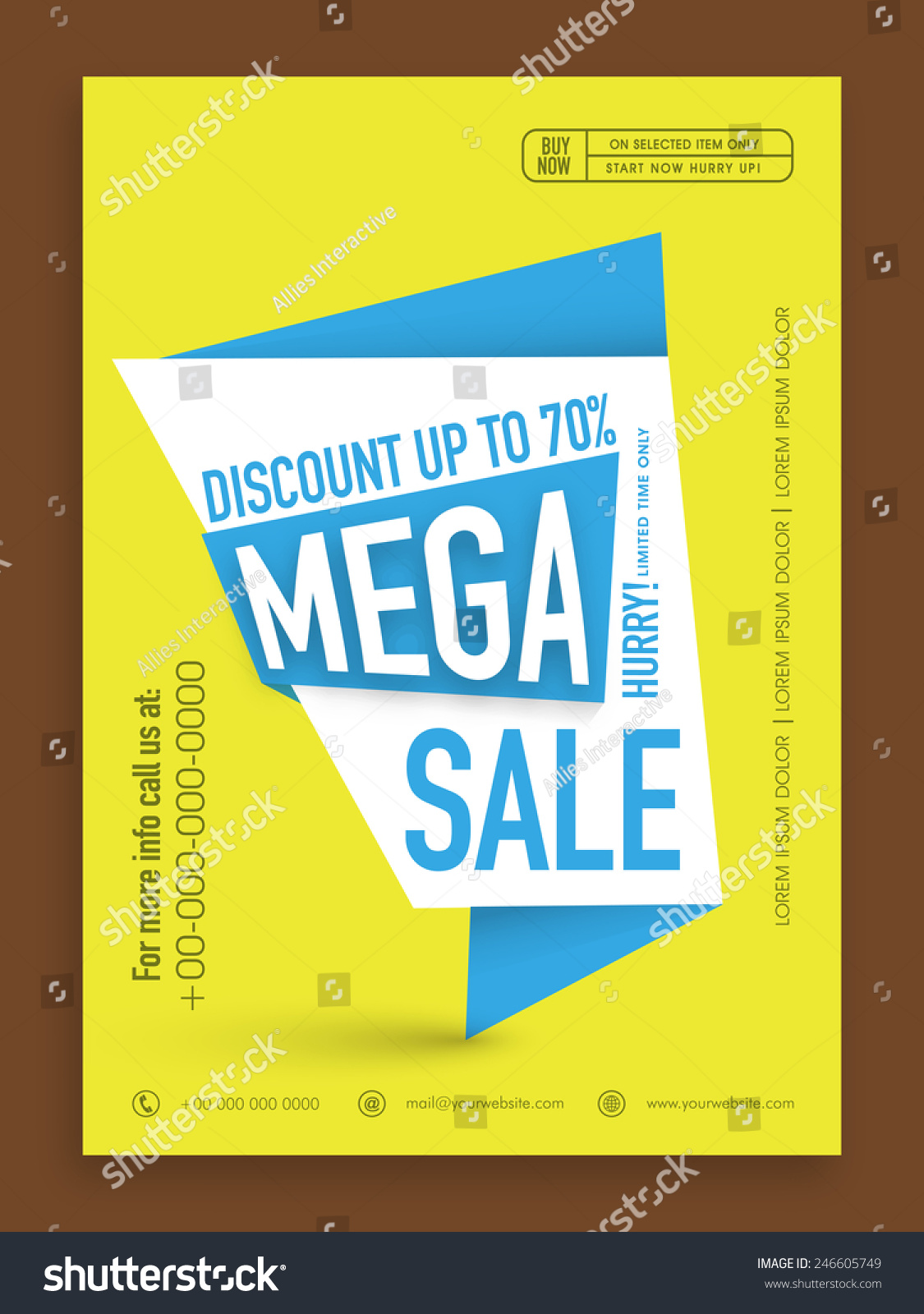 mega flyer template or banner discount upto % off save to a lightbox