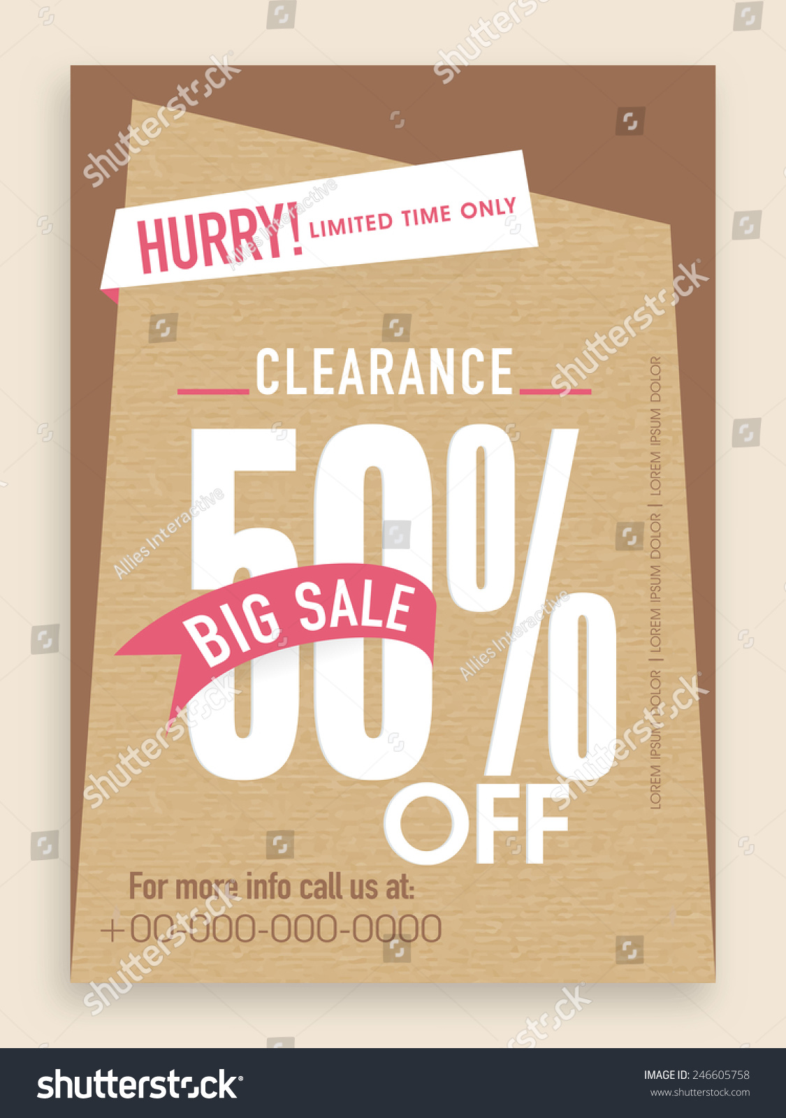 Clearance Sale Flyer Template Banner Design Stock Vector 246605758 ...
